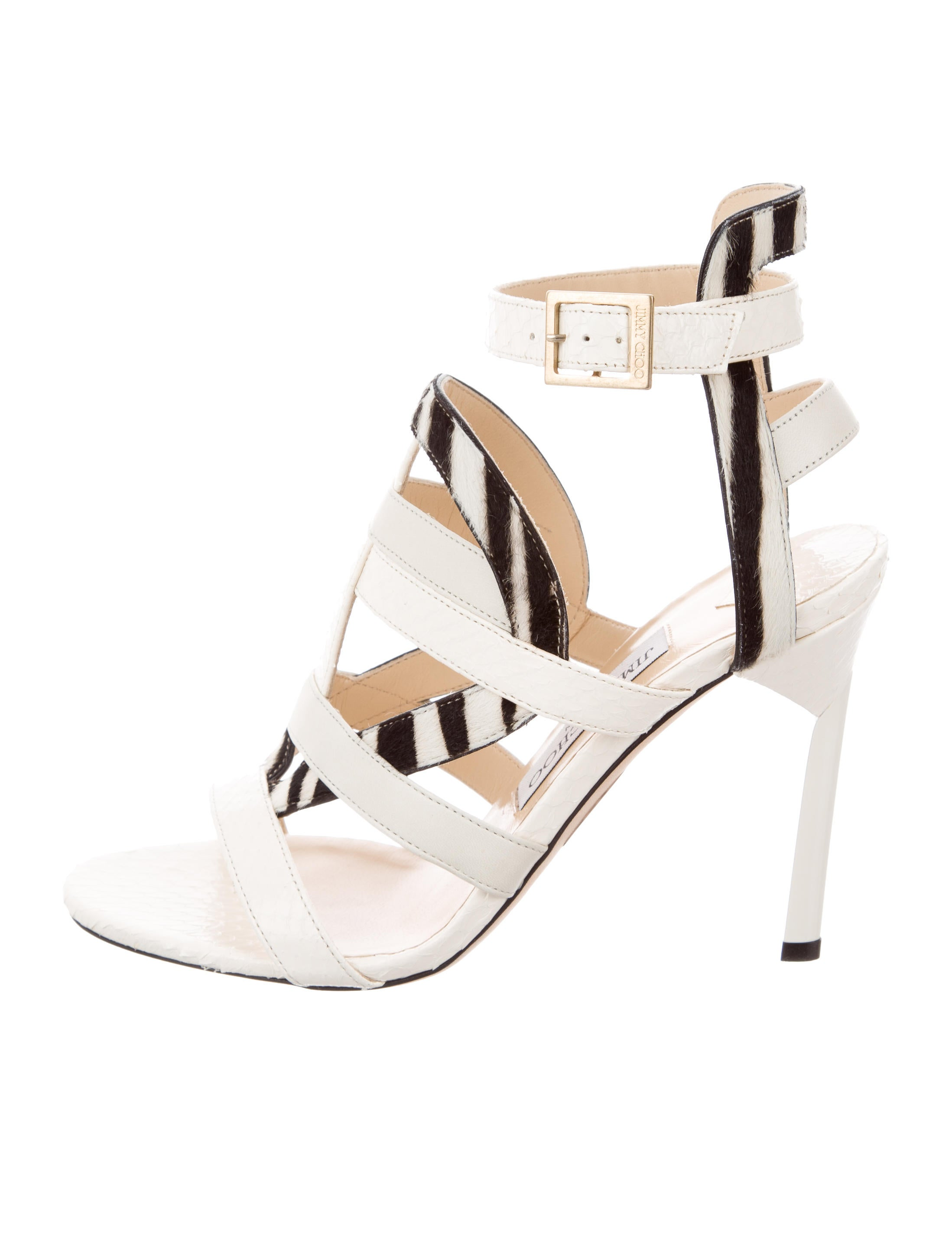 Jimmy Choo Vanquish Snakeskin Sandals w/ Tags buy cheap recommend big discount sale online clearance 100% original find great cheap price newest cheap price dtVHqmtbwf