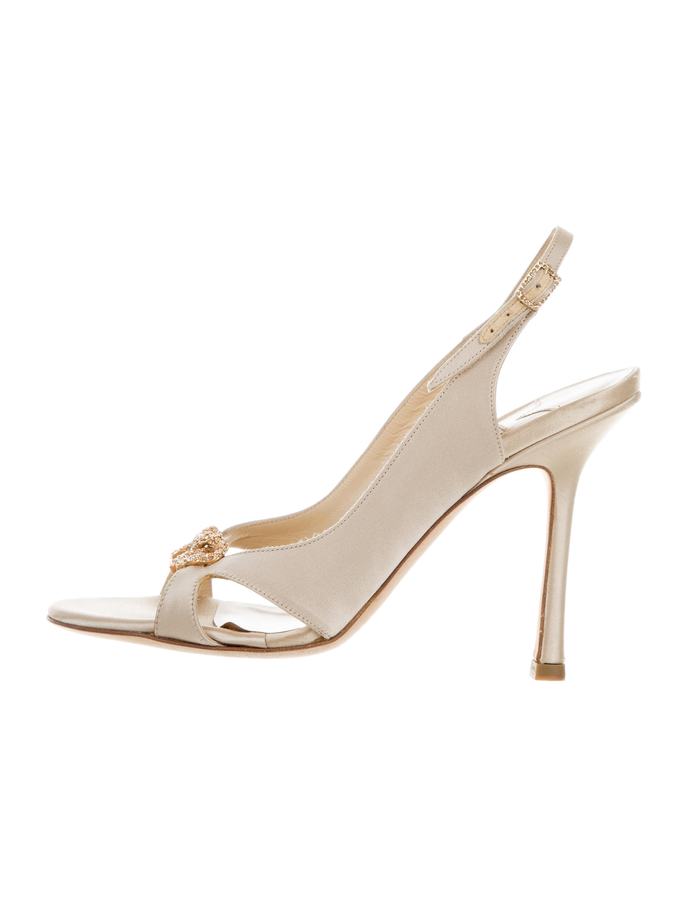 aa7a963e16a0c4 Jimmy Choo Embellished Satin Sandals - Shoes - JIM79103