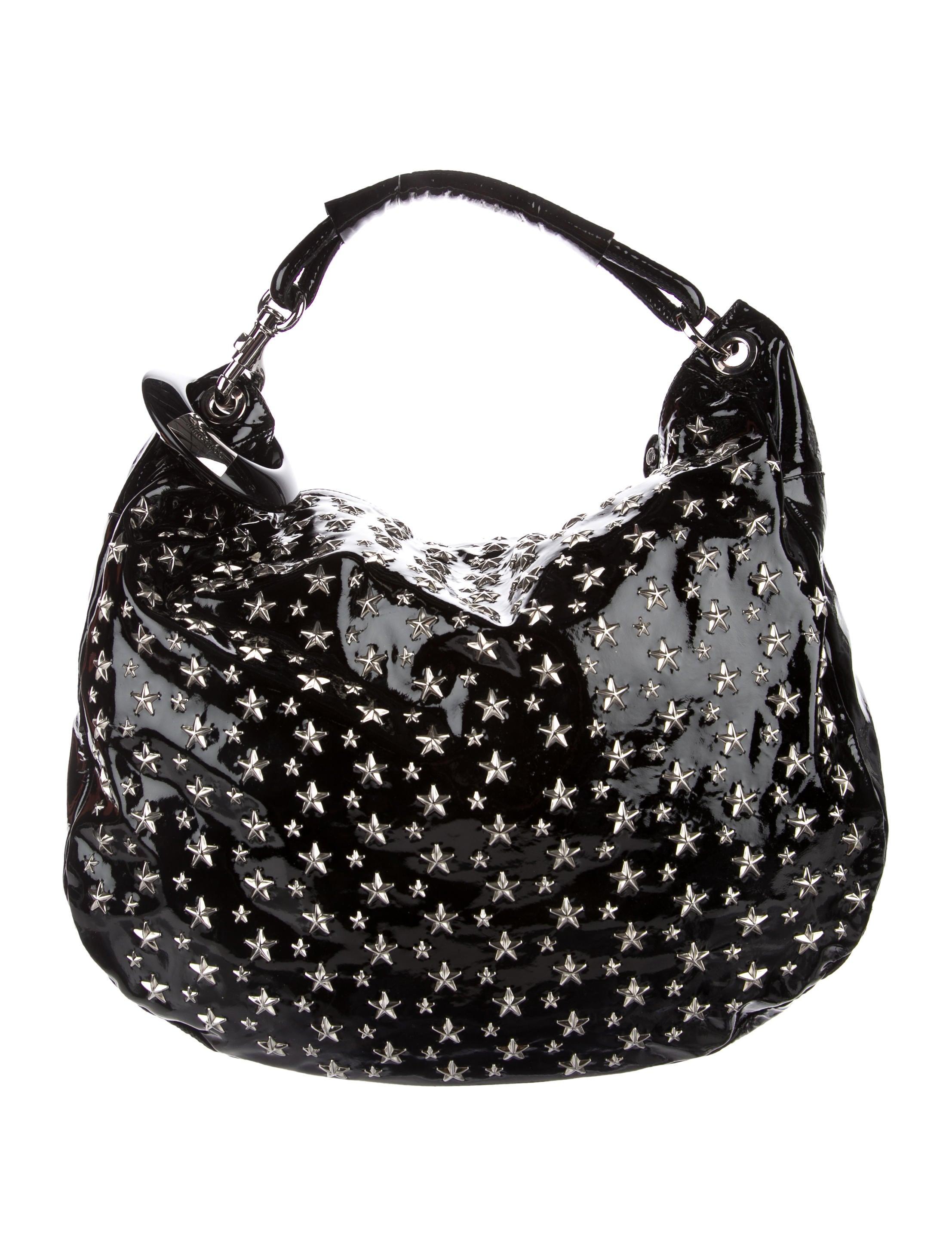 a28bf8ad08 Jimmy Choo Studded Sky Hobo - Handbags - JIM79135 | The RealReal