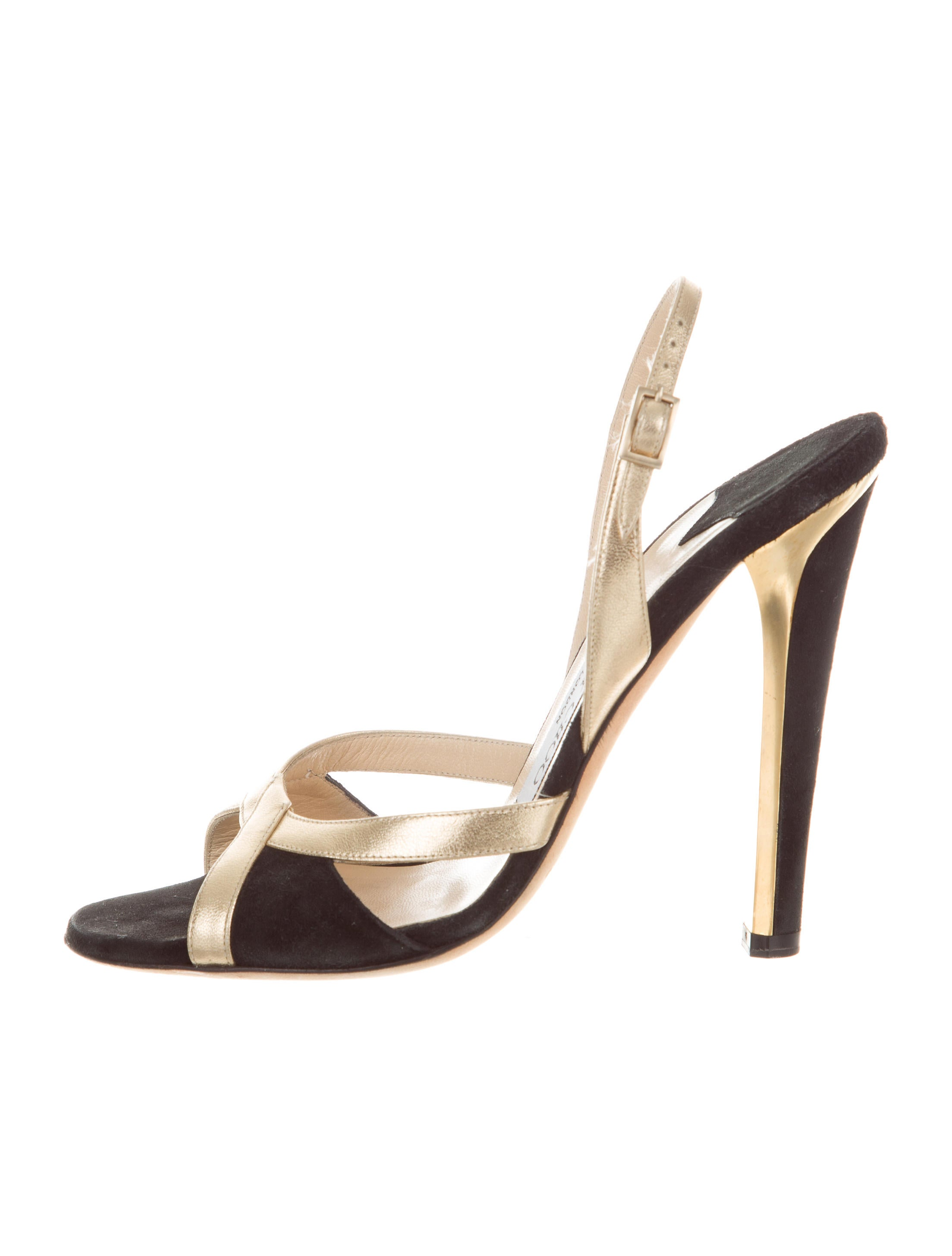 8644292777c21d Jimmy Choo Metallic Slingback Sandals - Shoes - JIM79562