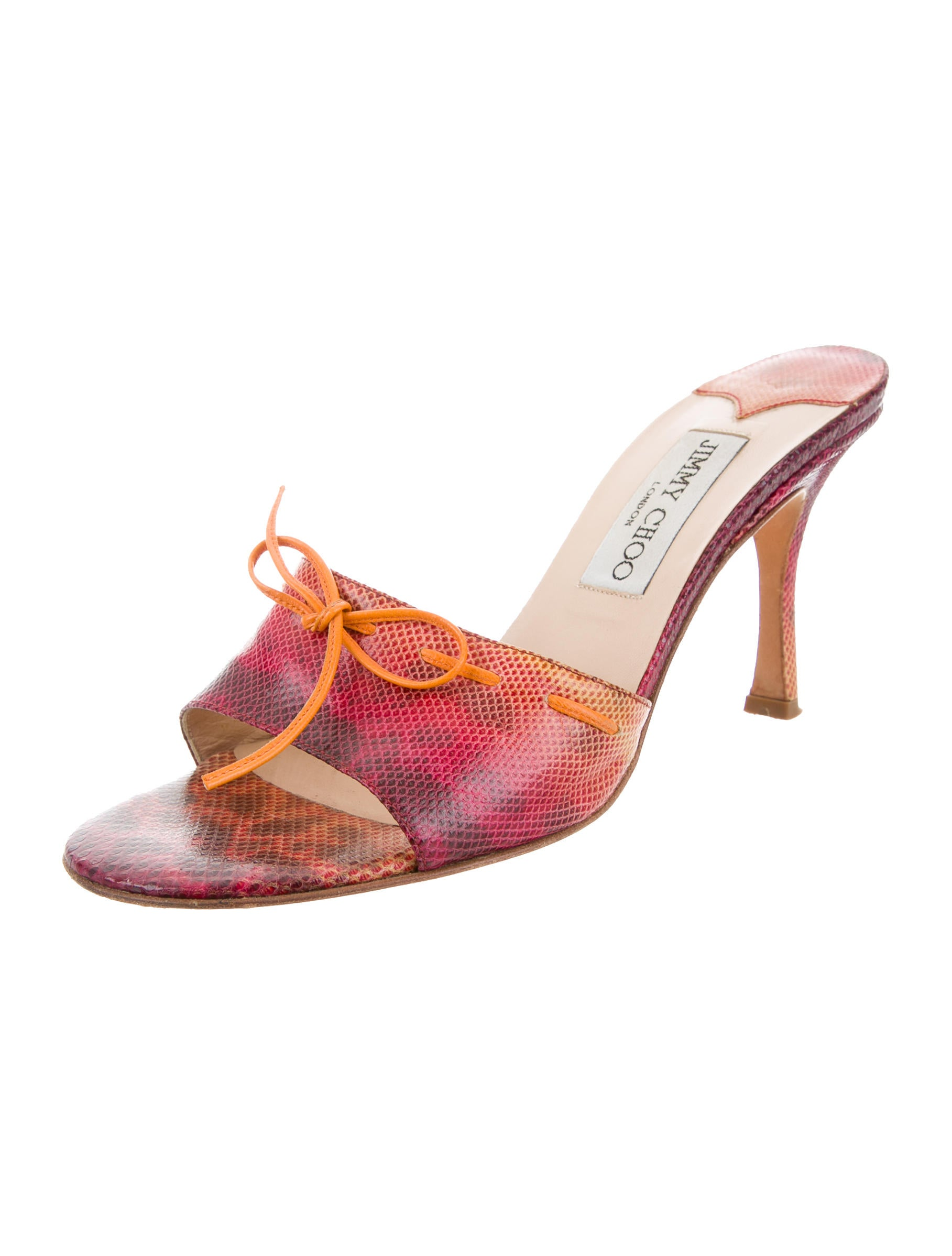 choice for sale Jimmy Choo Lizard Lace-Up Sandals buy cheap recommend how much for sale sale outlet store TlgJoq