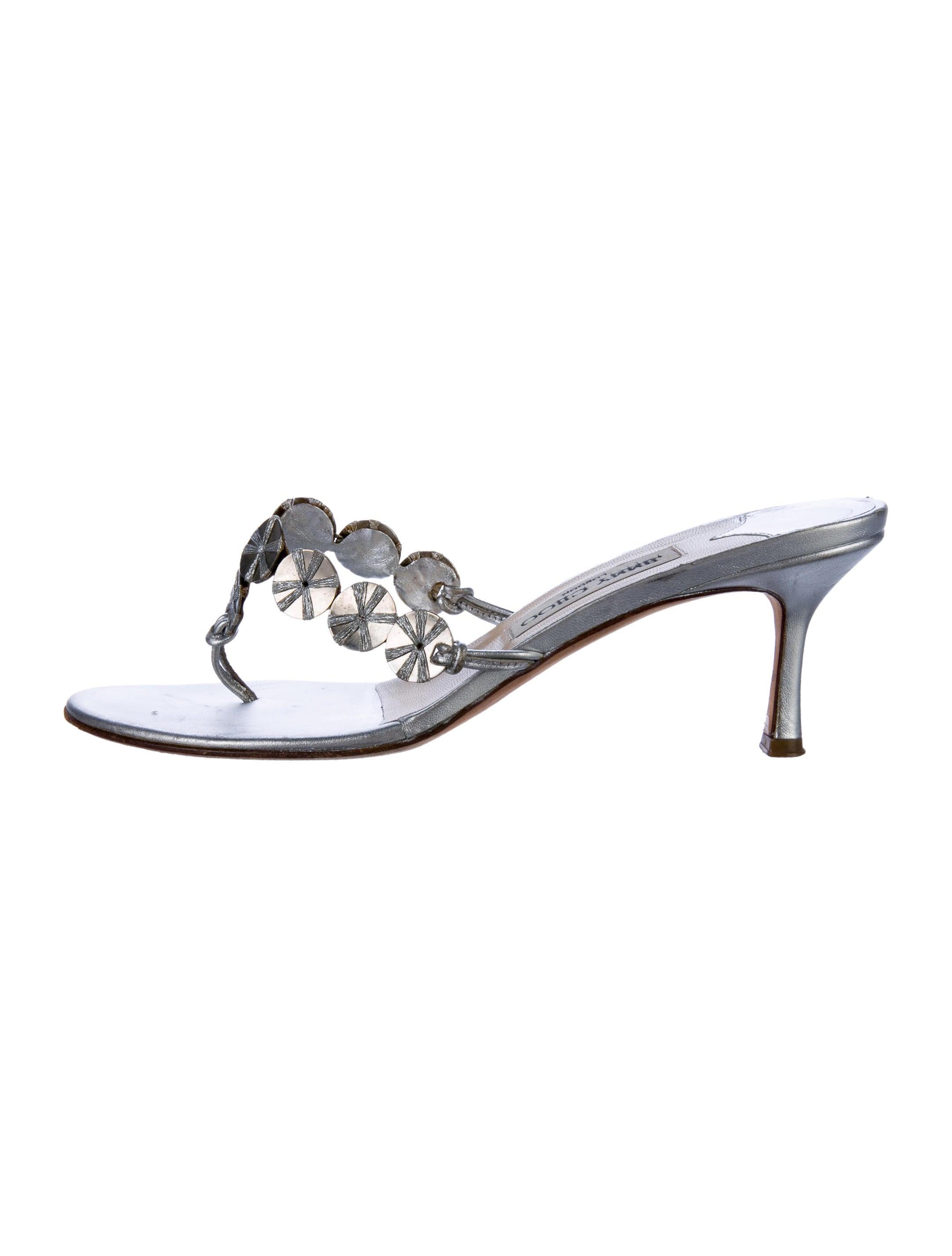 31064e4b095422 Jimmy Choo Embellished Thong Sandals - Shoes - JIM80178