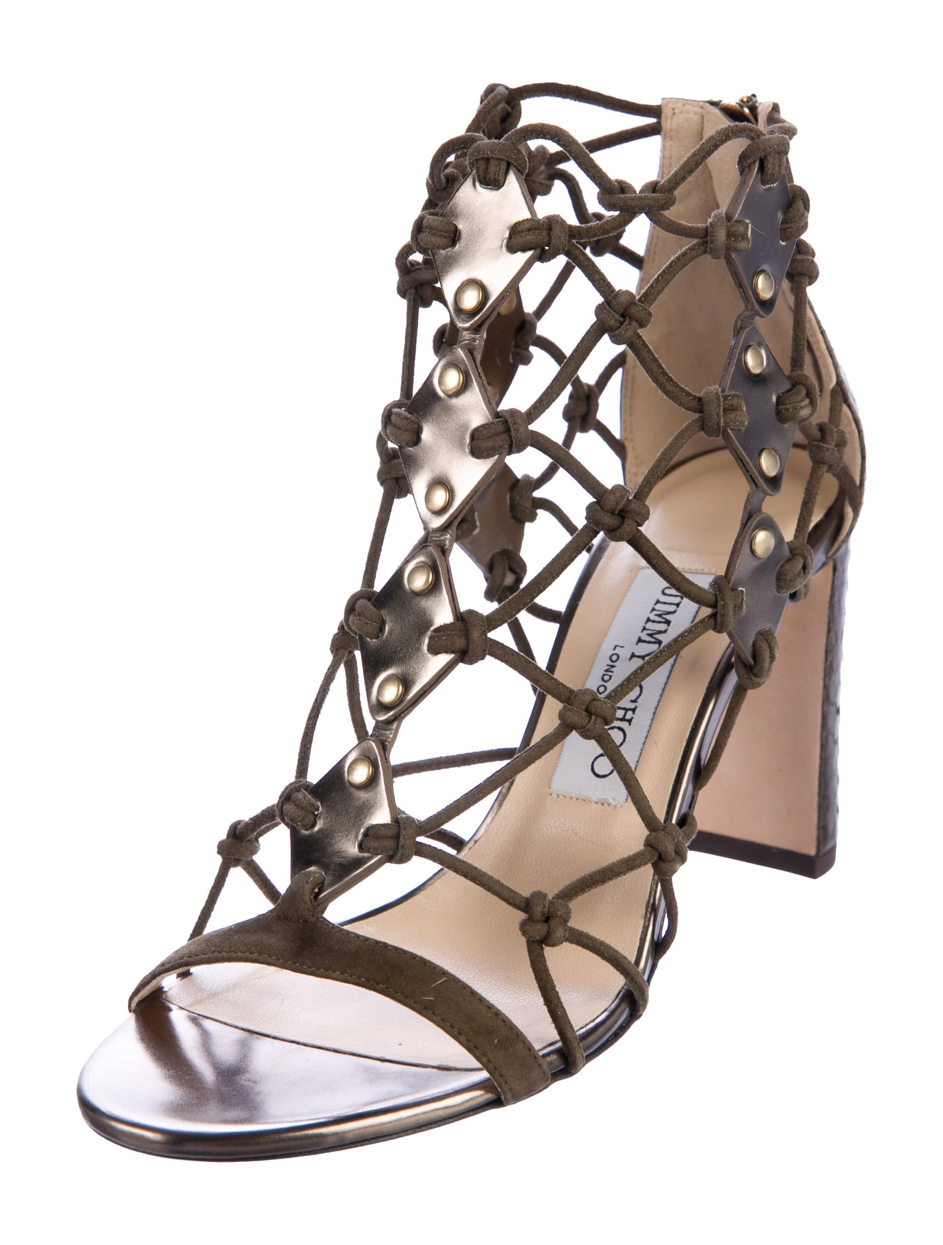 Inexpensive cheap online Jimmy Choo Tickle 85 Elaphe Sandals w/ Tags low shipping cheap price ivv1yaXa