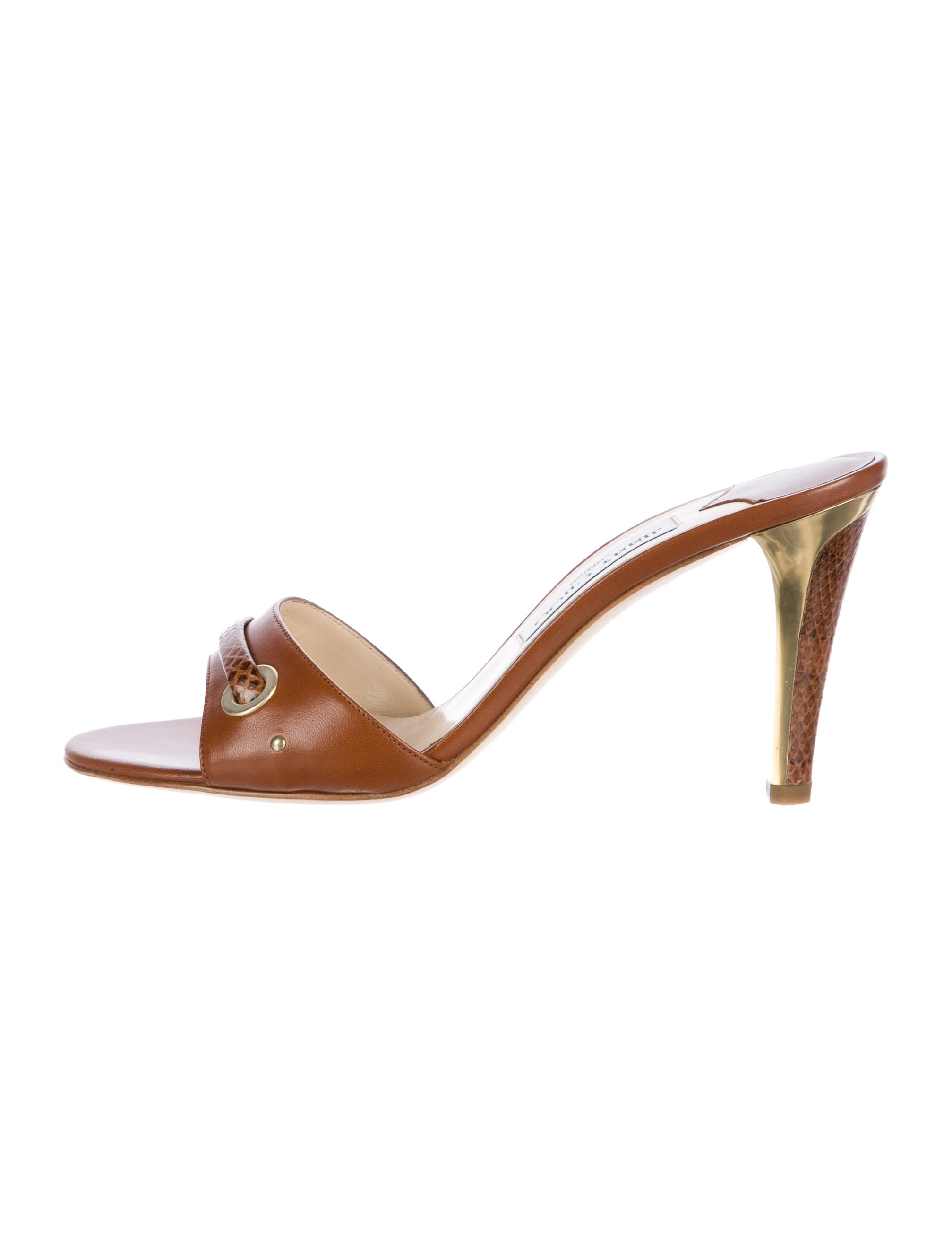 prices cheap online for sale for sale Jimmy Choo Alligator Slide Sandals buy cheap low cost clearance clearance wholesale price cheap price YUZ58L
