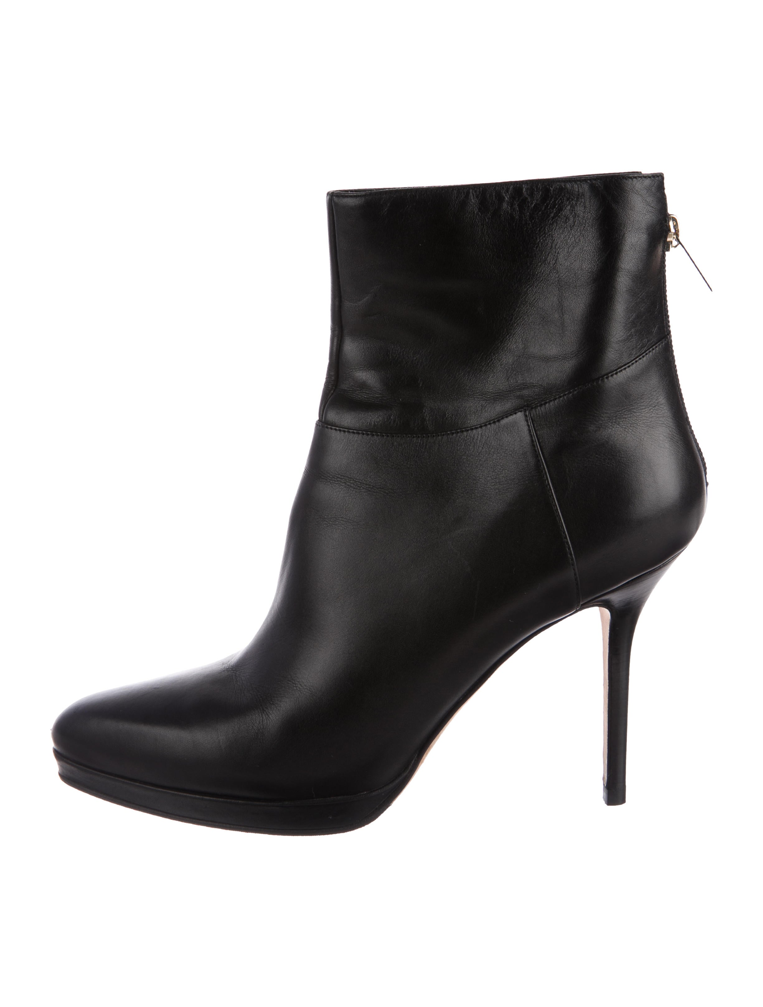 clearance brand new unisex choice online Jimmy Choo Leather Semi Pointed-Toe Ankle Boots big discount cheap sale low price sale low shipping VTnn2K02