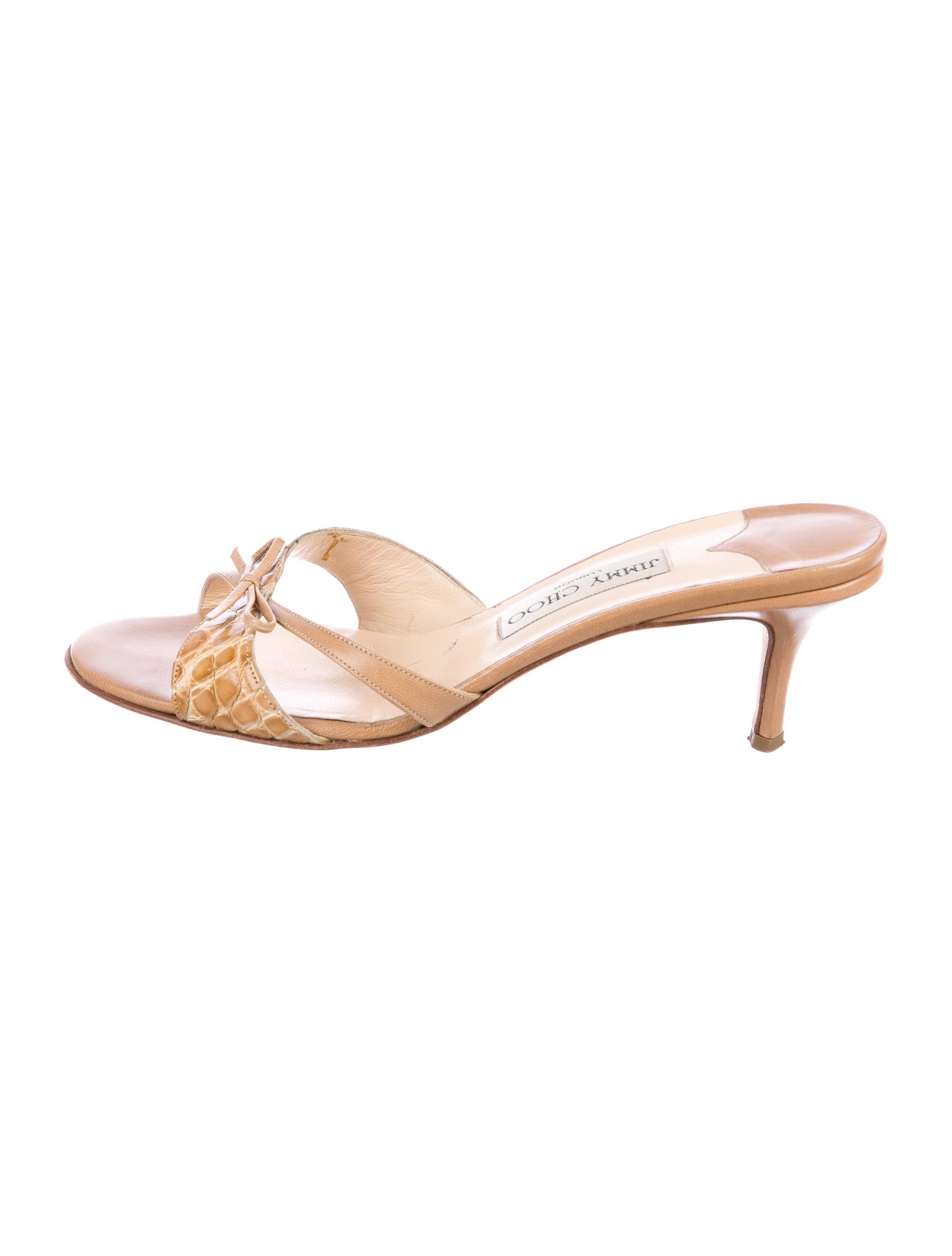 clearance best Jimmy Choo Alligator Slide Sandals cheap sale browse finishline for sale shop online wjDKbGeU