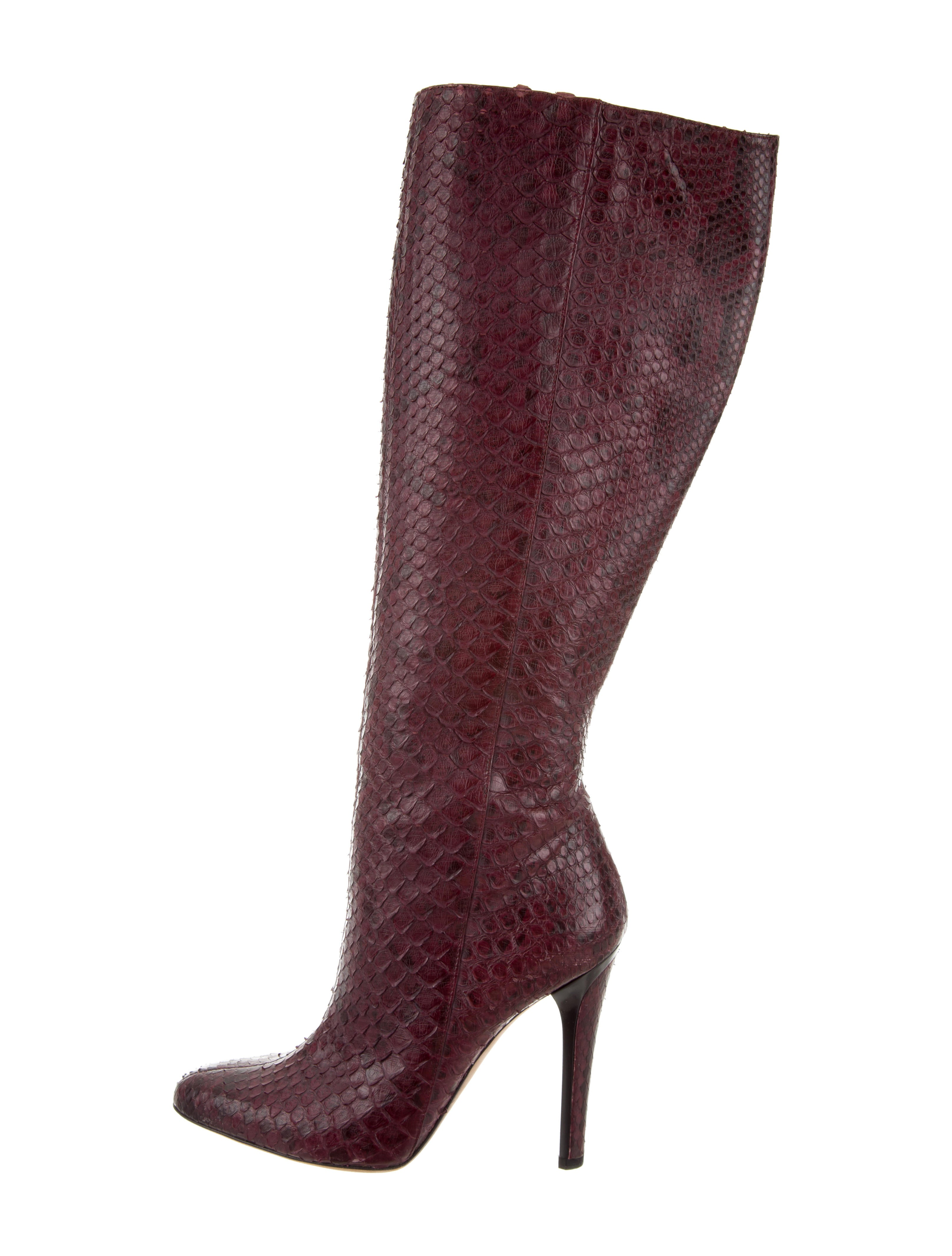 cheapest price cheap online Jimmy Choo Python Knee-High Boots countdown package cheap price CdGKRTk5