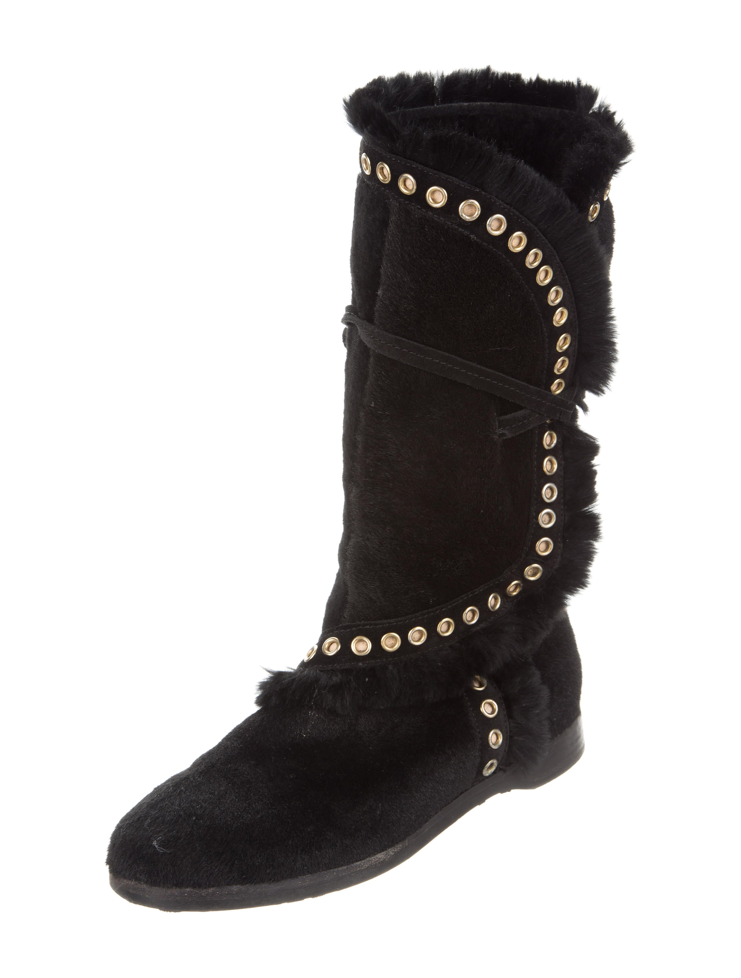 buy cheap outlet store Jimmy Choo Fur-Lined Mid-Calf Boots cheap sale supply find great online cheap 2014 SAbWnHs6tq