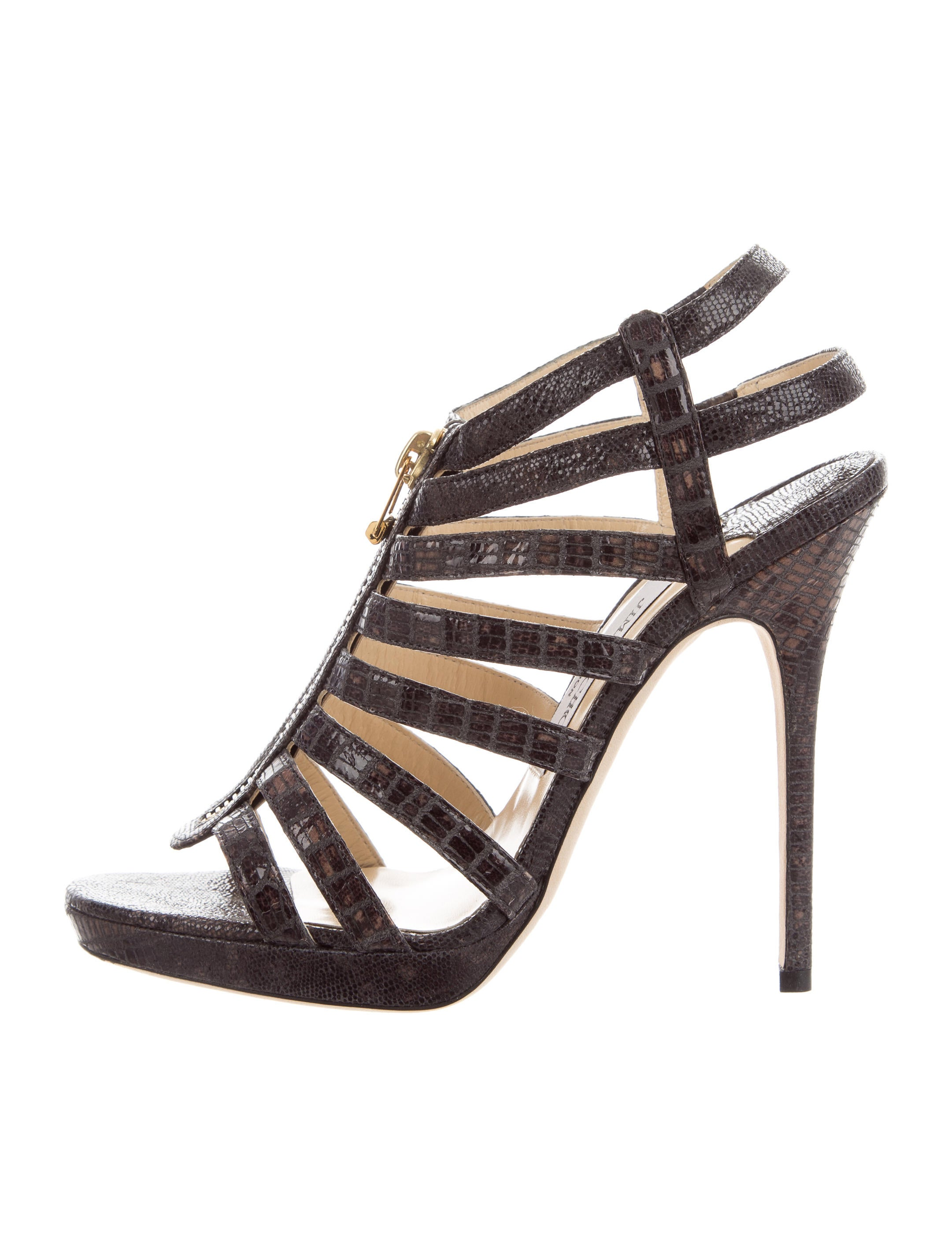 top quality for sale Jimmy Choo Embossed Cage Sandals w/ Tags cheap sale many kinds of cheap sale huge surprise V5u4bl6j