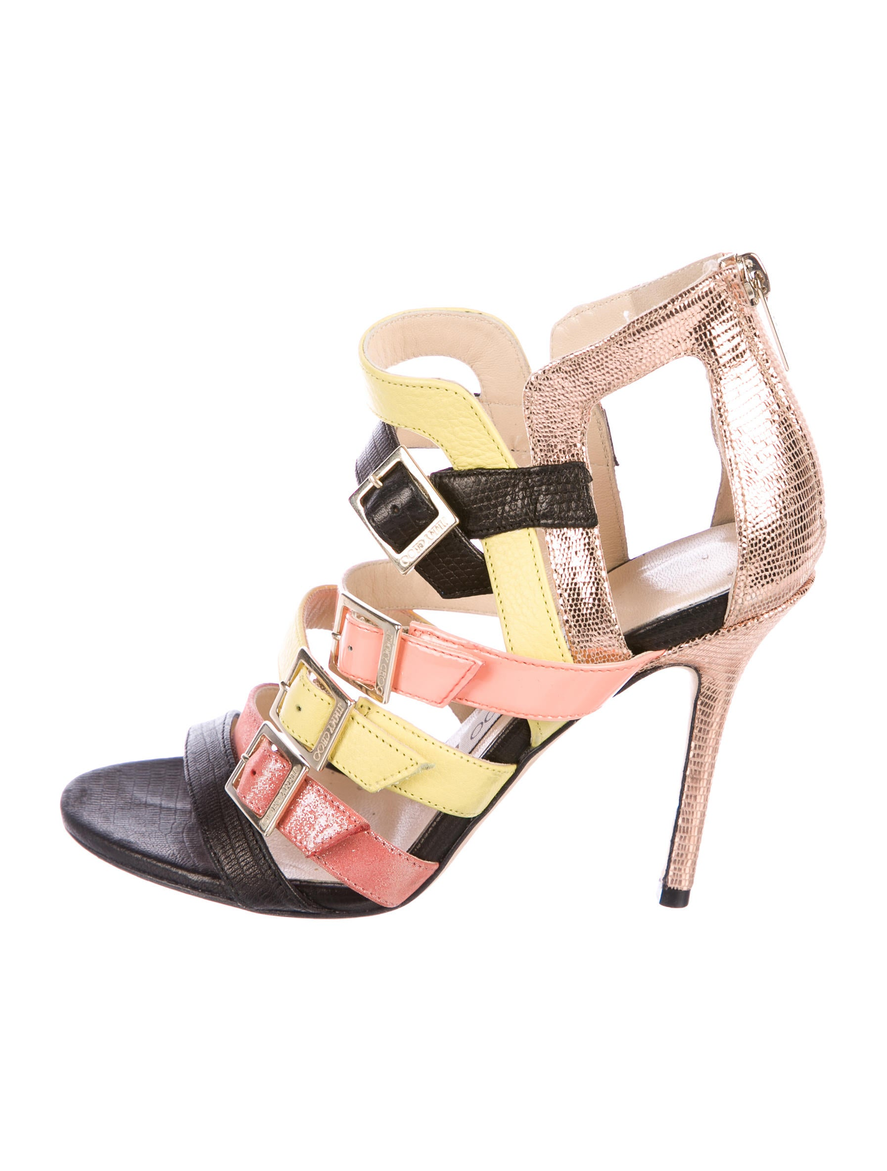 clearance latest cheap store Jimmy Choo Buckled Caged Sandals buy cheap extremely buy cheap hot sale cheap price discount authentic BtVaiH