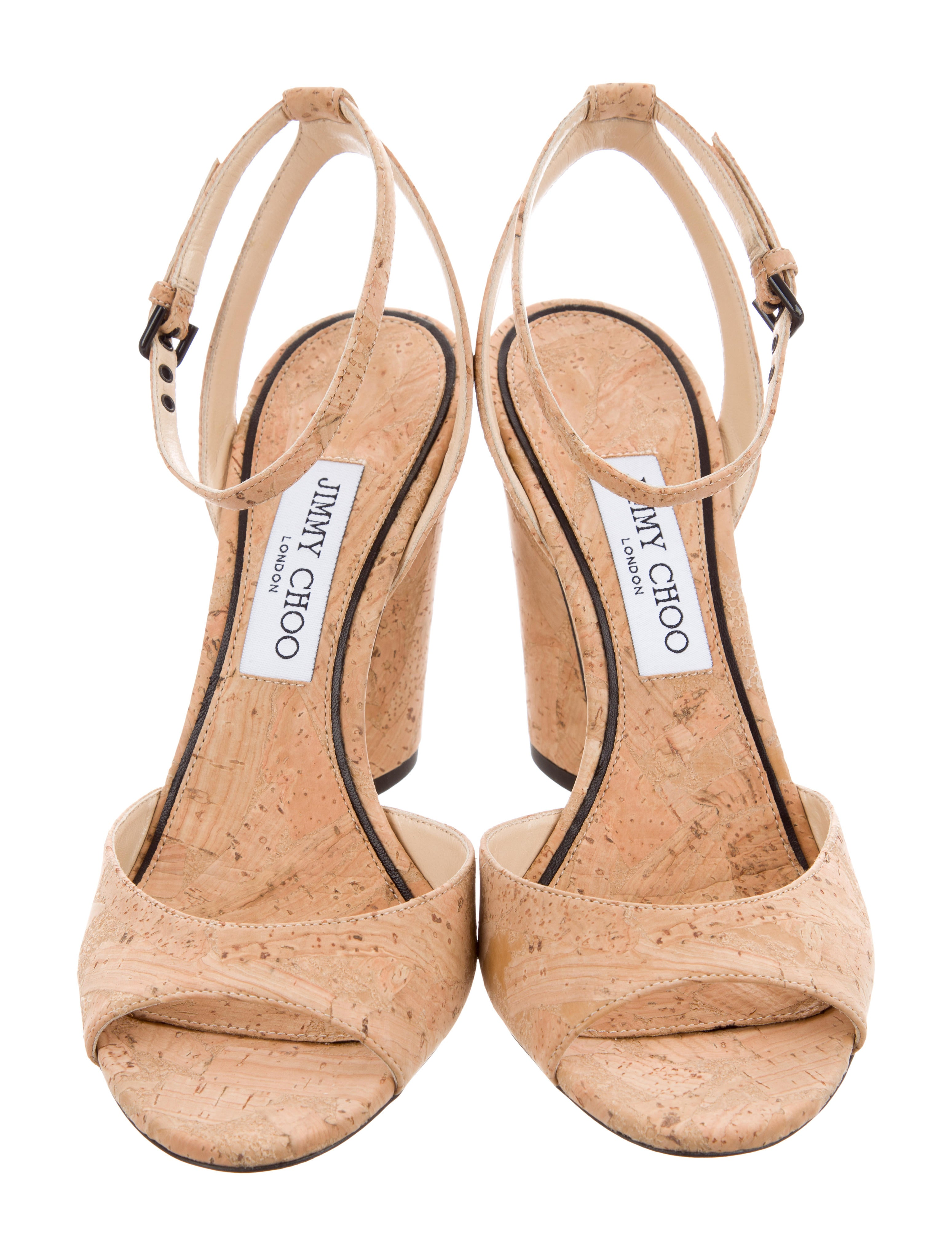 Jimmy Choo Miranda Cork Sandals w/ Tags buy cheap 100% guaranteed quality for sale free shipping buy cheap Inexpensive for cheap price jzIojGnS