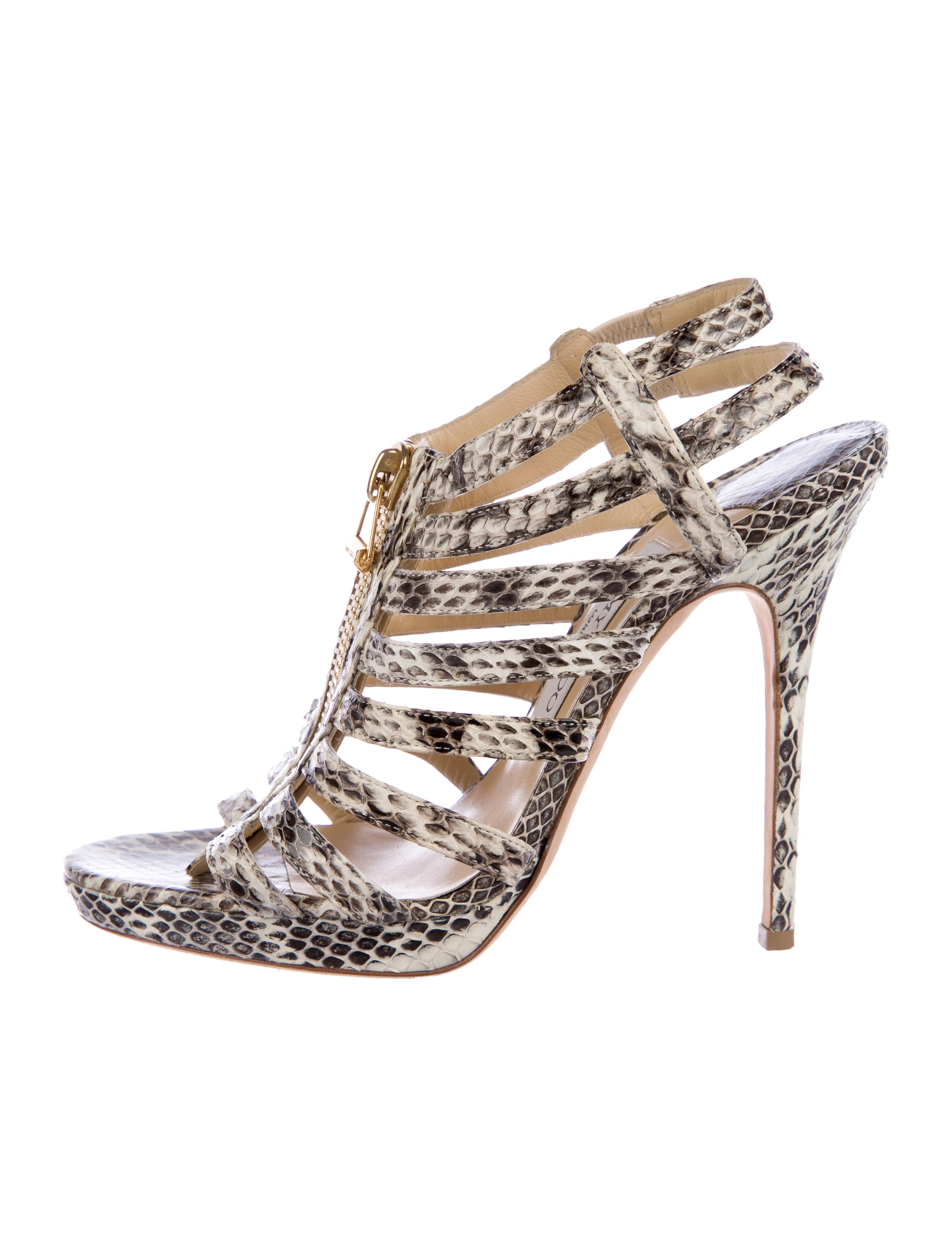 clearance wiki recommend cheap online Jimmy Choo Snakeskin Cage Sandals cheap explore RLSw3tJ4YT