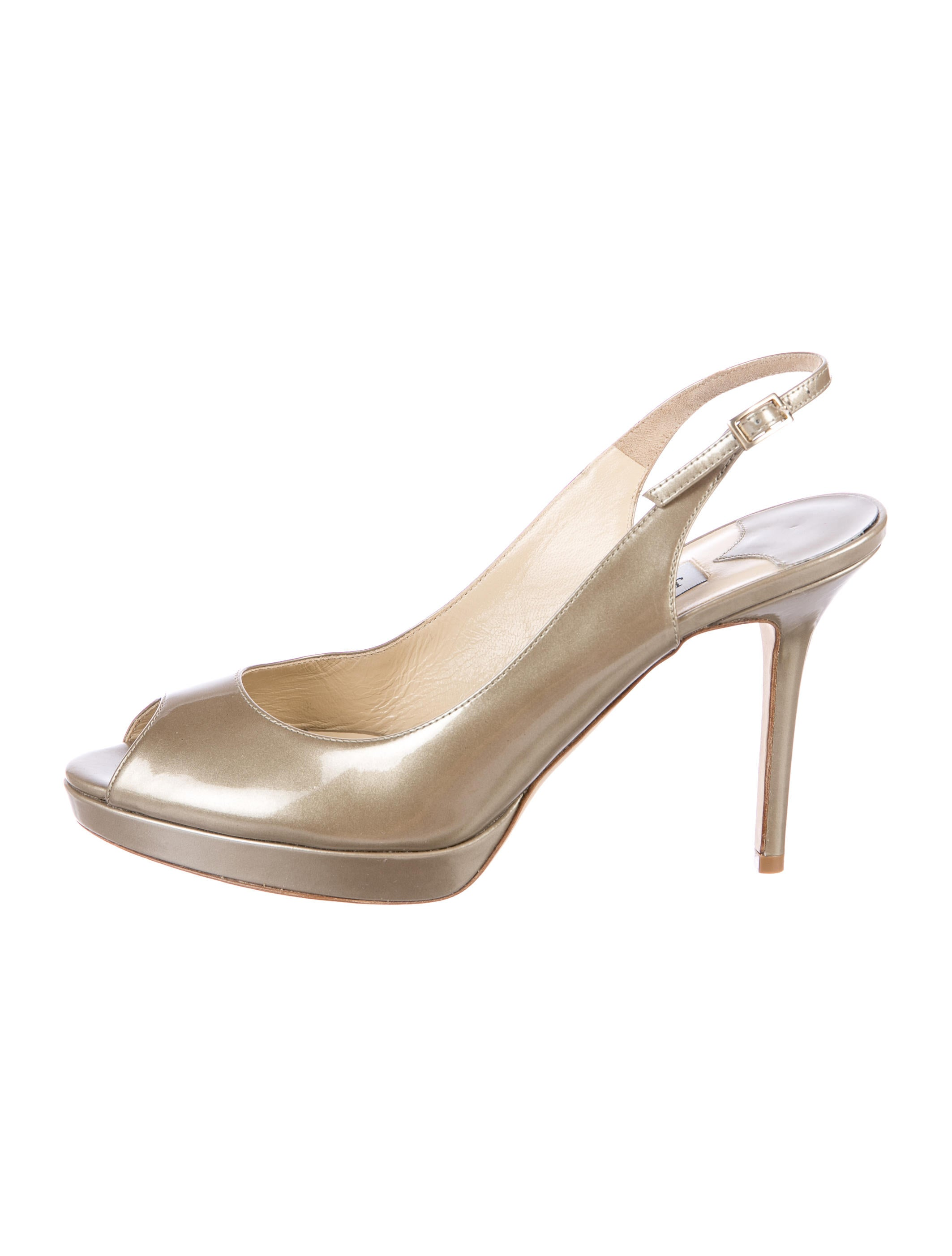 discount excellent cheap sale how much Jimmy Choo Patent Leather Peep-Toe Pumps w/ Tags RfcfIbb