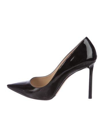 Jimmy Choo Patent Pointed-Toe Pumps None