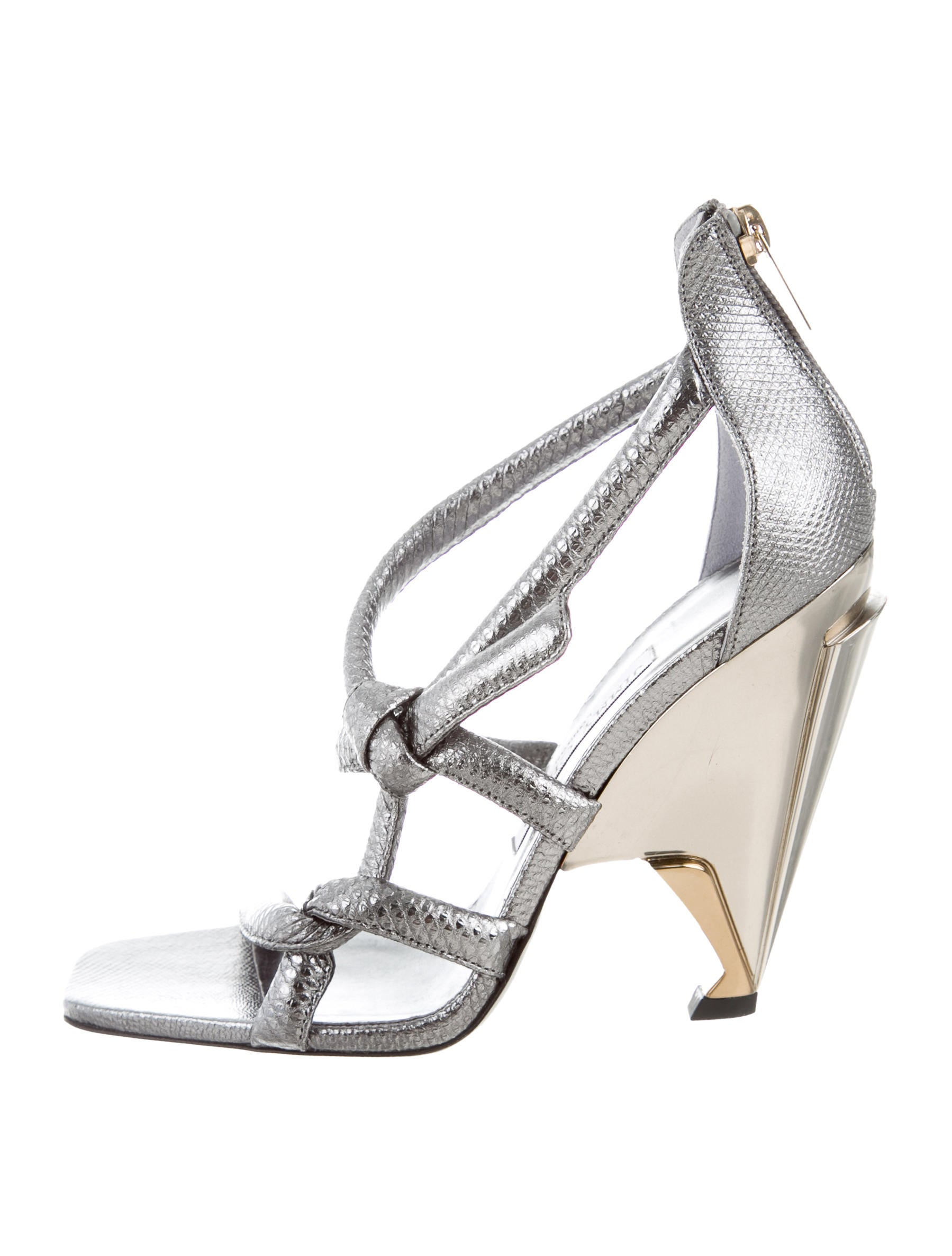 Jimmy Choo Embossed Kissy Knot Sandals sast for sale sale with paypal cheap sale choice k7n6RnsMjo