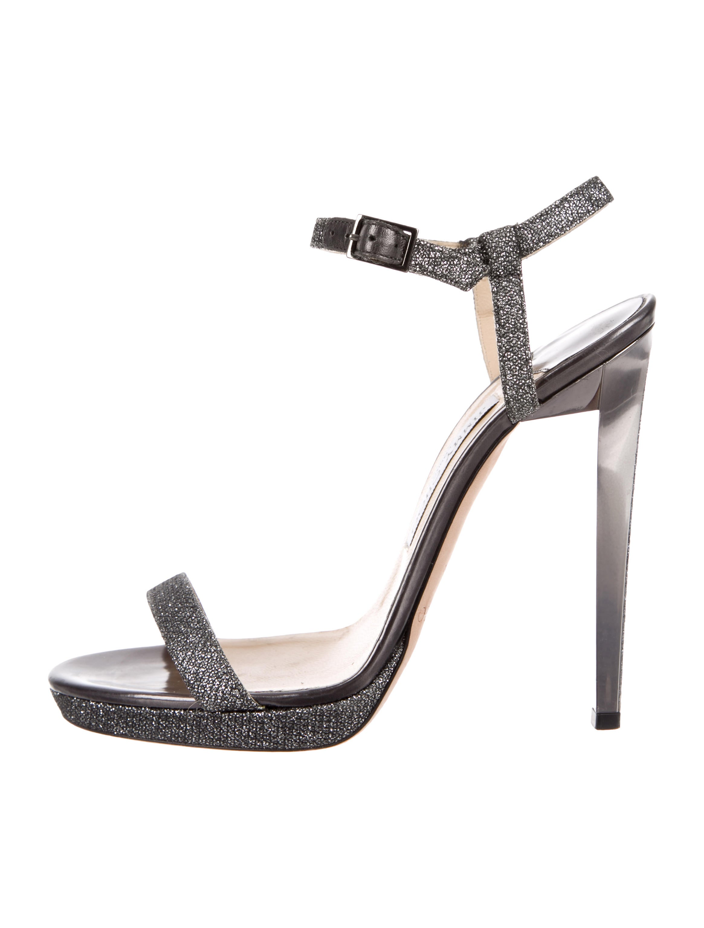 Jimmy Choo Glitter Ankle Strap Sandals clearance outlet free shipping how much huge surprise online 49xgQLq8