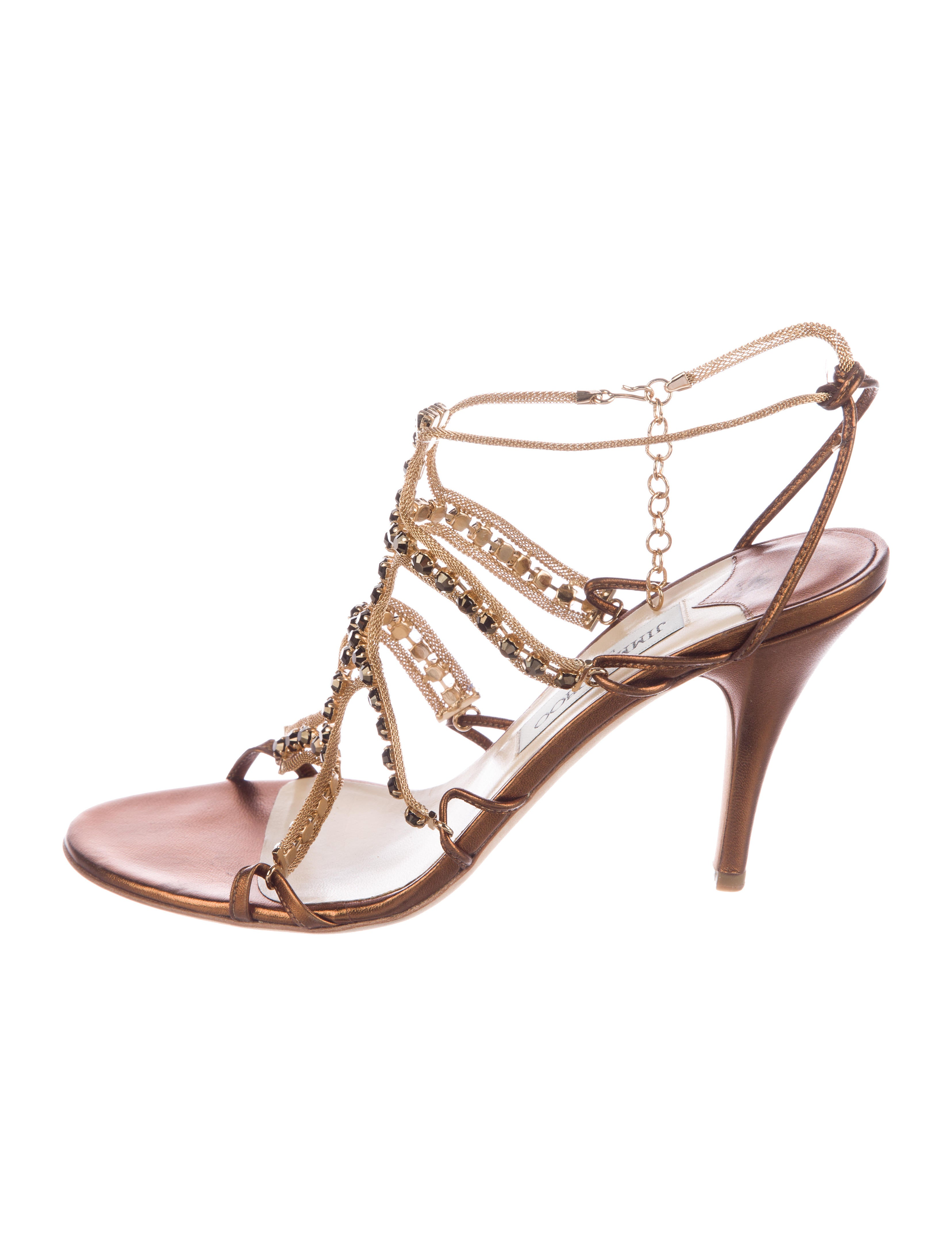 Jimmy Choo Jewel-Embellished Cage Sandals buy cheap shop really for sale sale 2015 new sale pay with paypal CgOWrOzfm