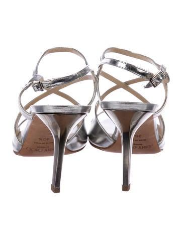 Lang Metallic Patent Sandals