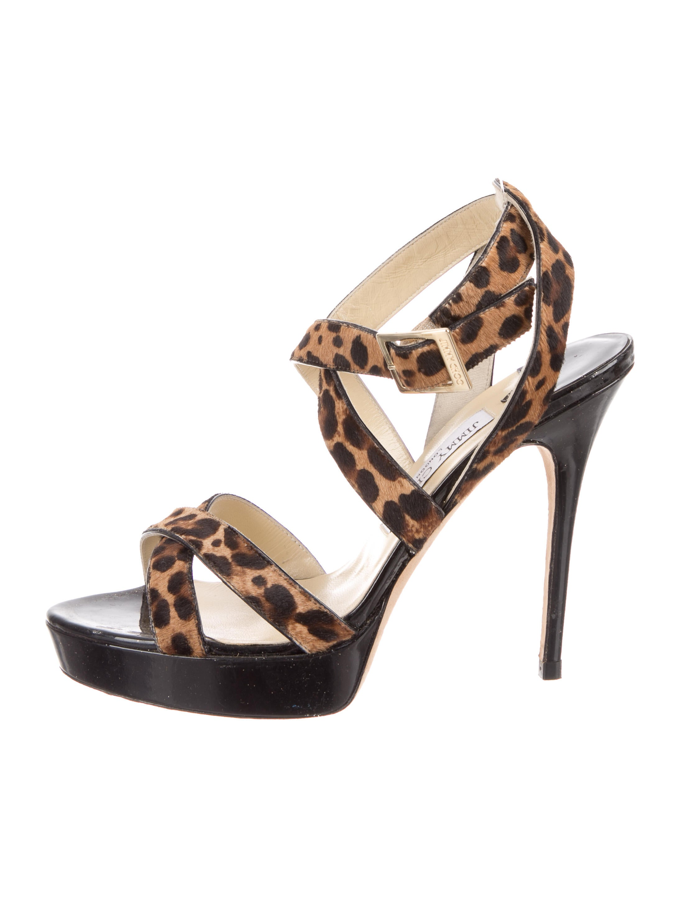 Jimmy Choo Ponyhair Crossover Sandals clearance pre order cheap sale browse cheap cost NsENnX