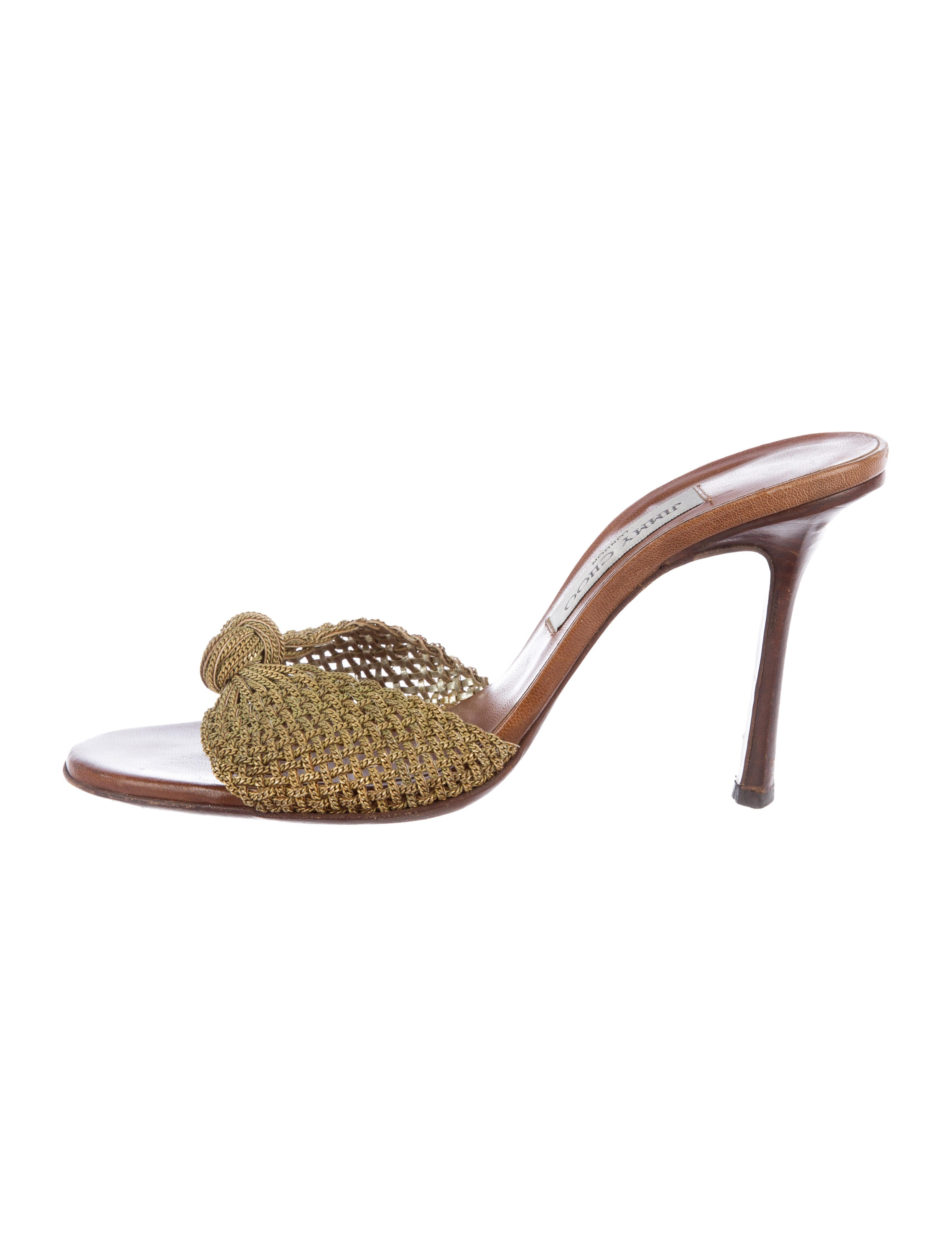 Jimmy Choo Chain-Link Knotted Sandals countdown package cheap price sale low price fee shipping QtM9cZ2Mm