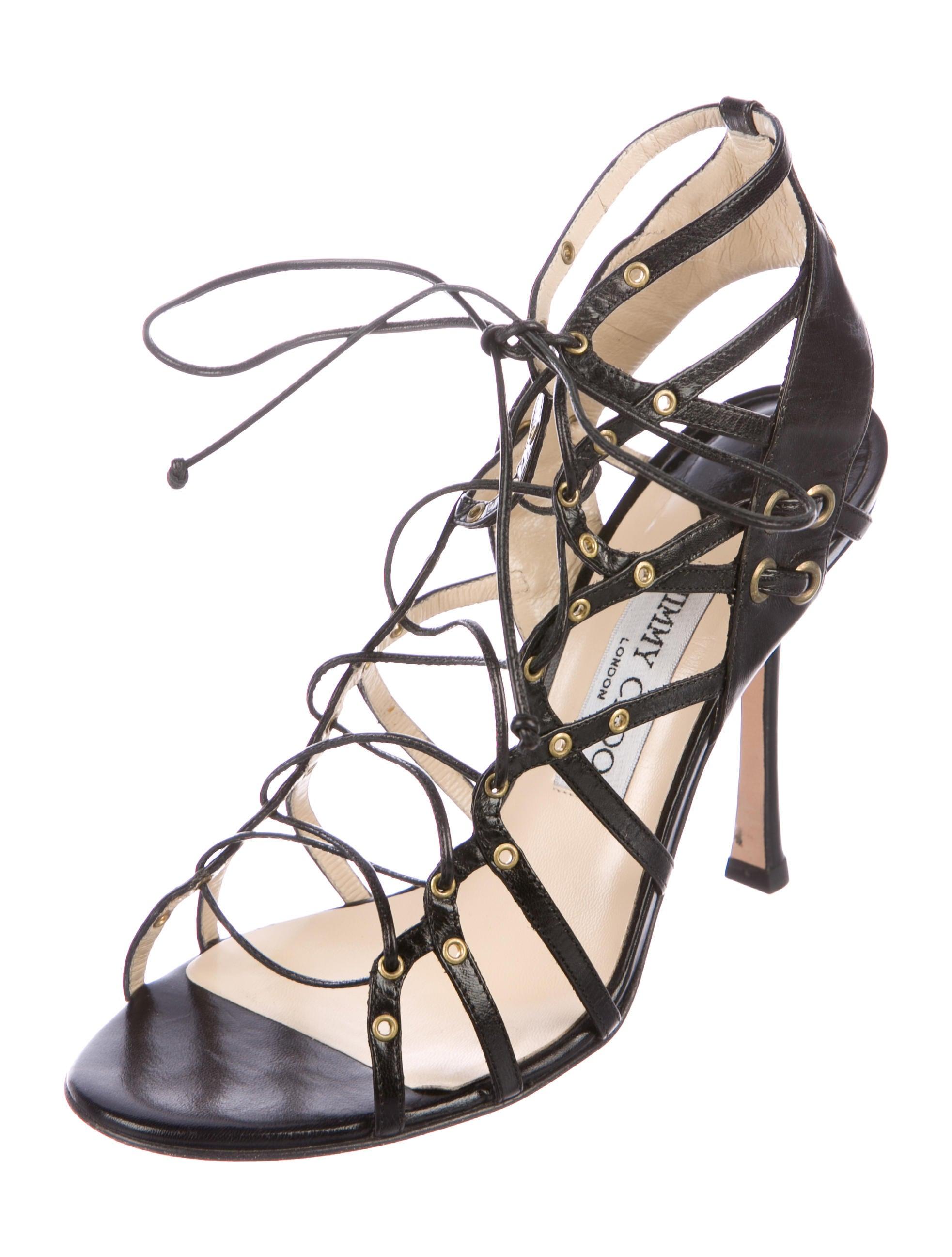 discount pictures Jimmy Choo Savan Leather Sandals cheap sale best c7xglZ