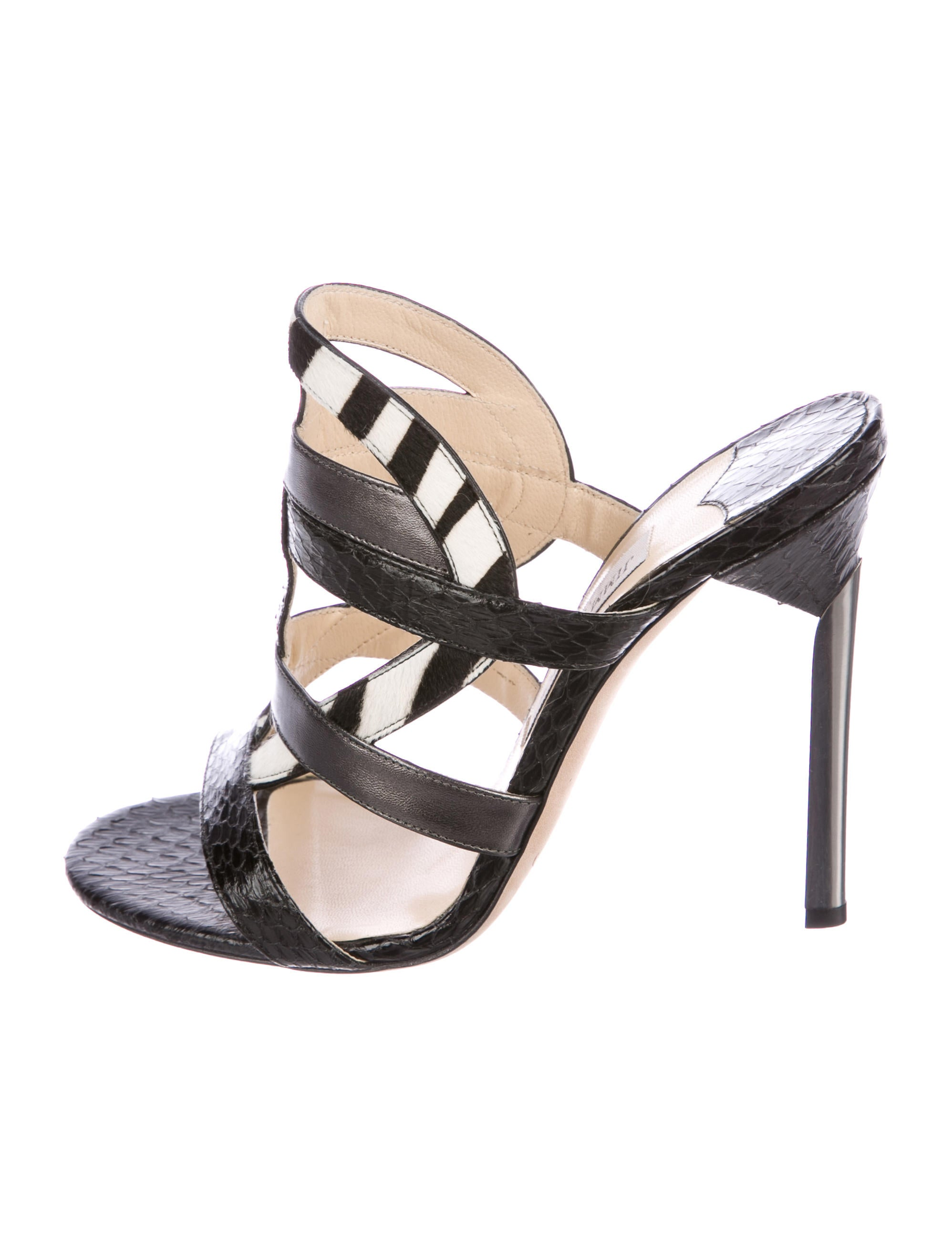 low price fee shipping for sale Jimmy Choo Vanisa Snakeskin Sandals w/ Tags where to buy free shipping low shipping f435A3ArW3