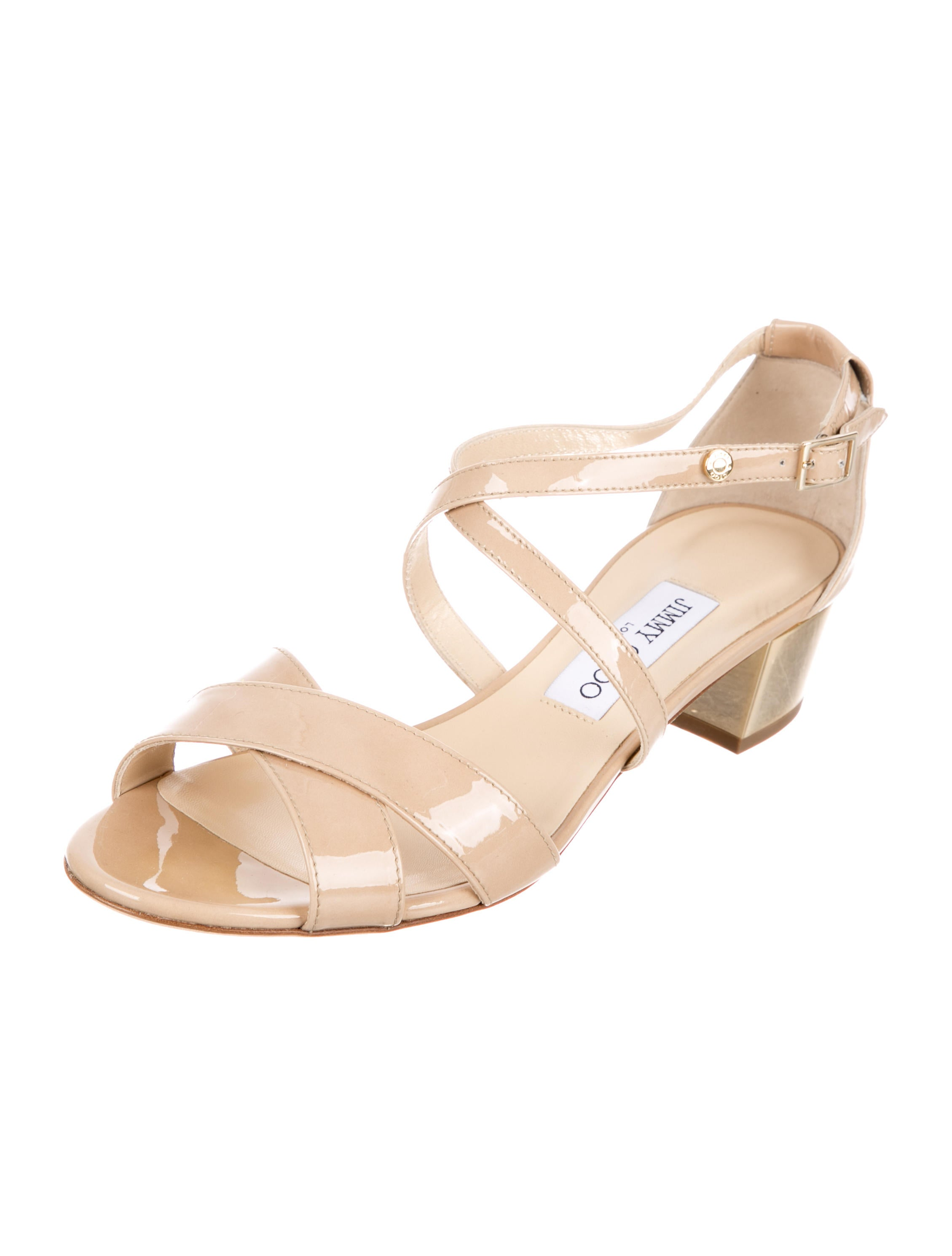 Jimmy Choo Merit Patent Leather Sandals w/ Tags cheap sale 2014 unisex lowest price for sale cheap sale shop offer cheap sale purchase VpRghaIJ