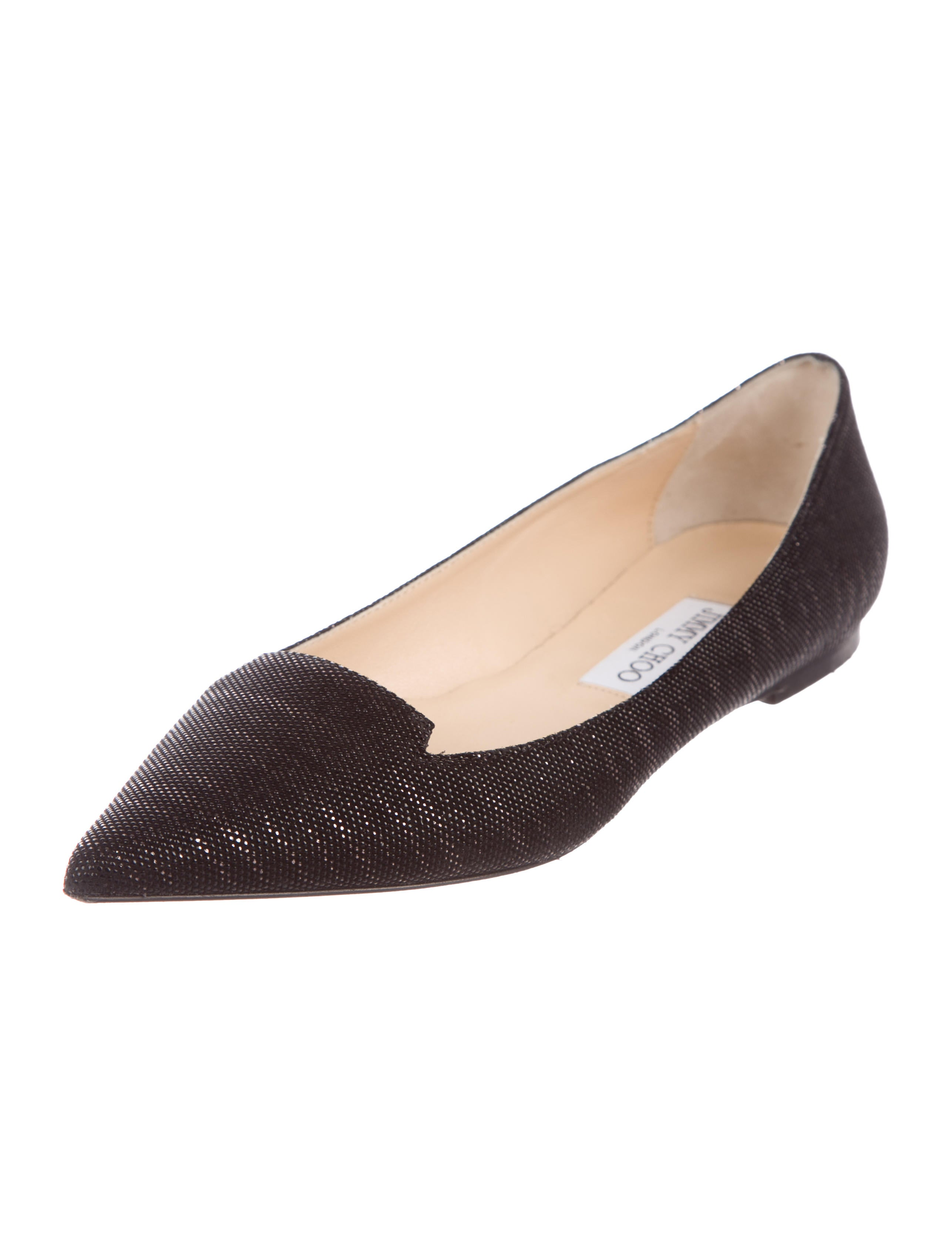 Jimmy Choo Atilla Goosebump Flats with credit card for sale mmC65Xk