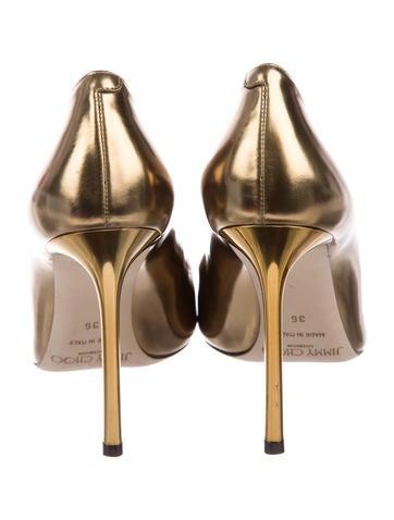 Metallic Pointed-Toe Pumps