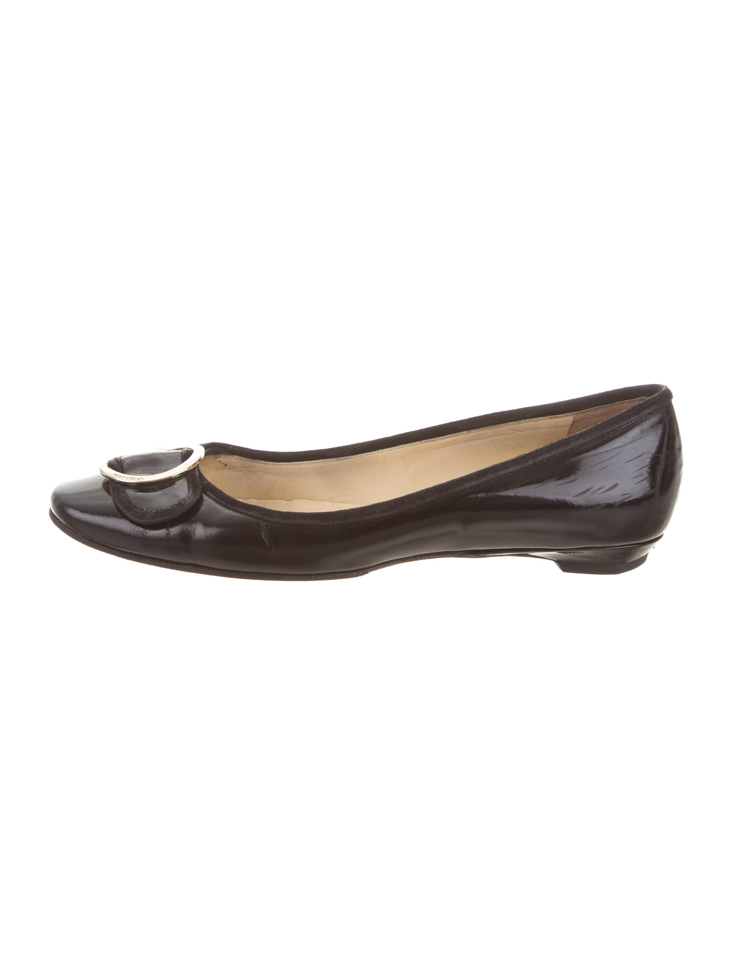 lowest price Jimmy Choo Round-Toe Buckle Flats sale finishline 6xqrY