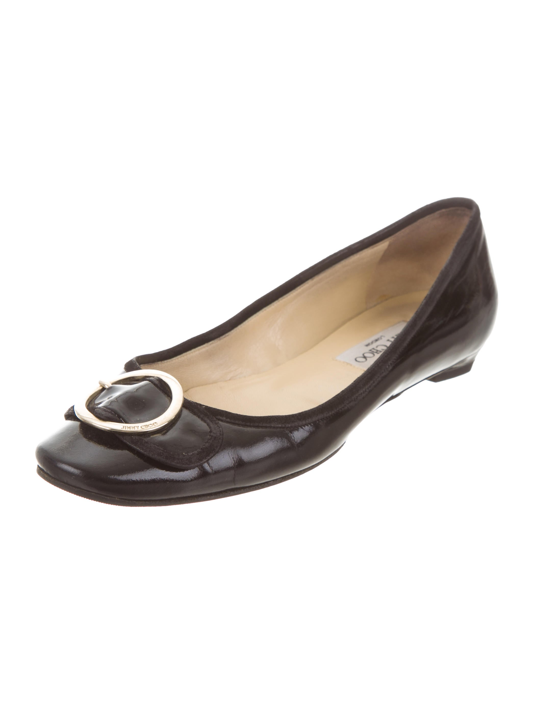 Jimmy Choo Round-Toe Buckle Flats under $60 cheap online browse recommend sale online yRHcAsXD