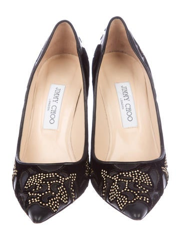 Studded Pointed-Toe Pumps