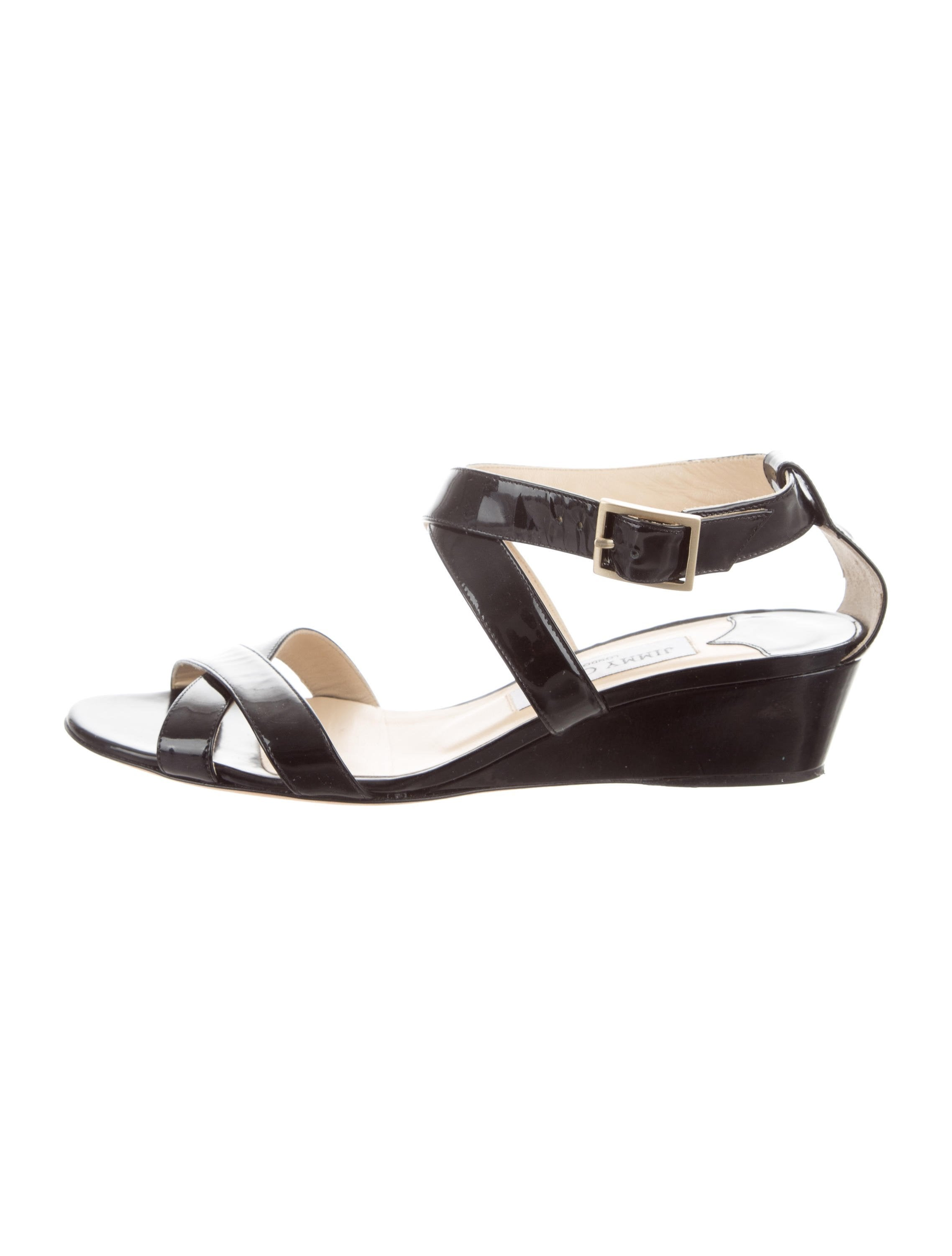 cheap buy authentic shop for cheap online Jimmy Choo Patent Multistrap Wedges manchester great sale cheap for sale iYs6x