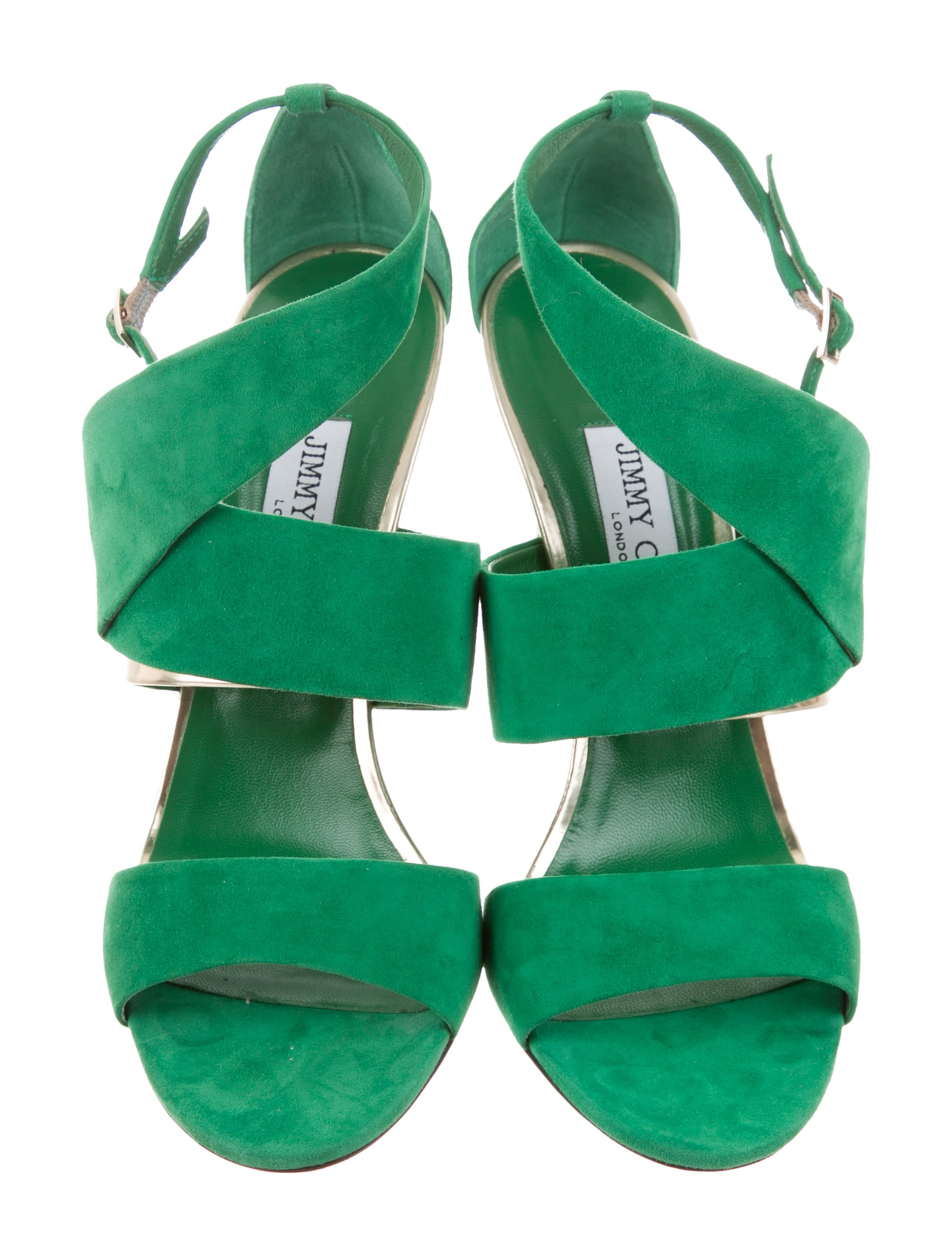 Jimmy Choo Trapeze 100 Suede Sandals w/ Tags cheapest price for sale fashion Style online free shipping browse kexOBt2