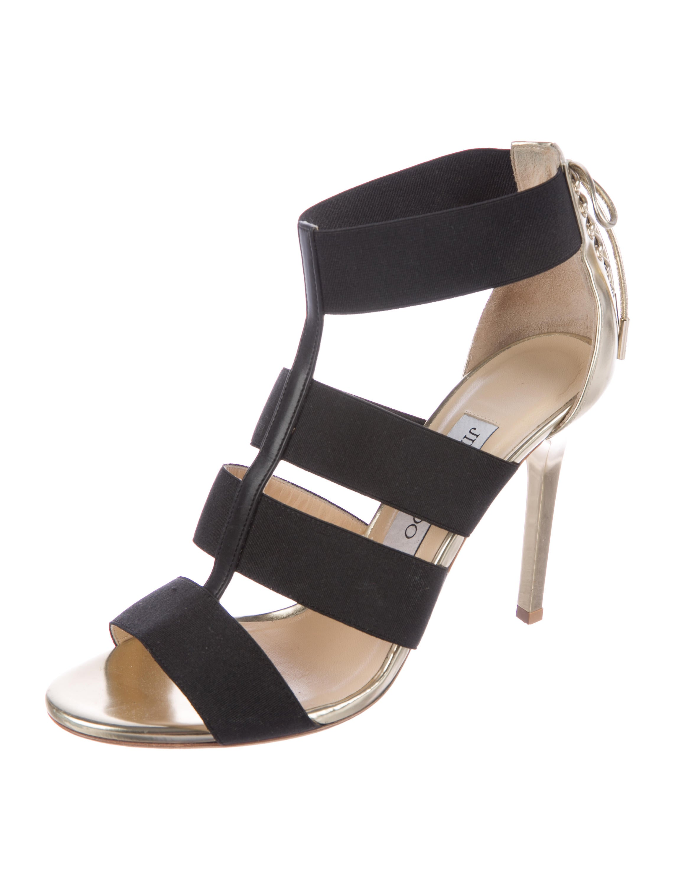 the cheapest sale online Jimmy Choo Caged Elasticized Sandals buy cheap shop collections online UFc7GZ9Xp