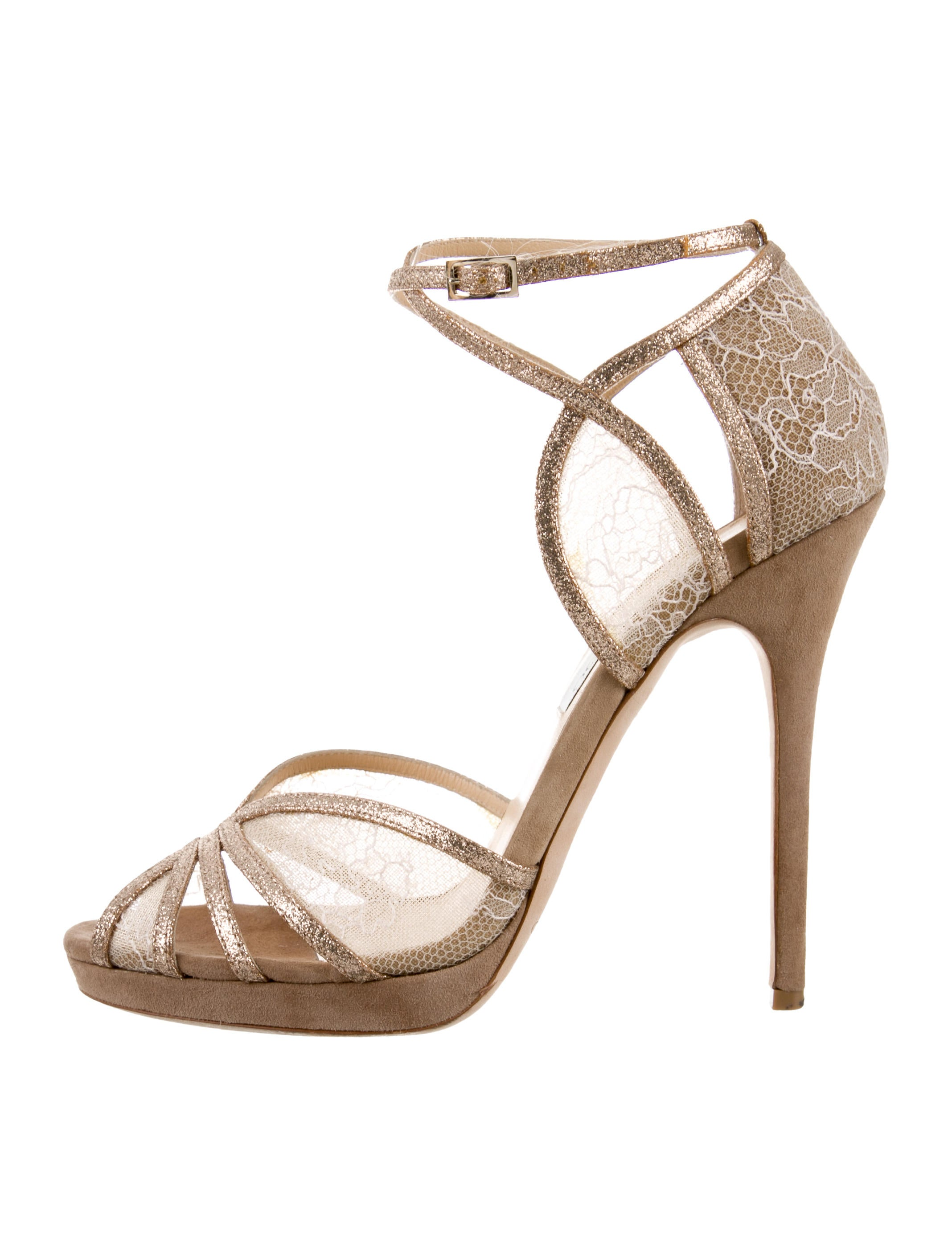 6489ac74a3c Jimmy Choo Fitch Glitter-Trimmed Sandals - Shoes - JIM92188
