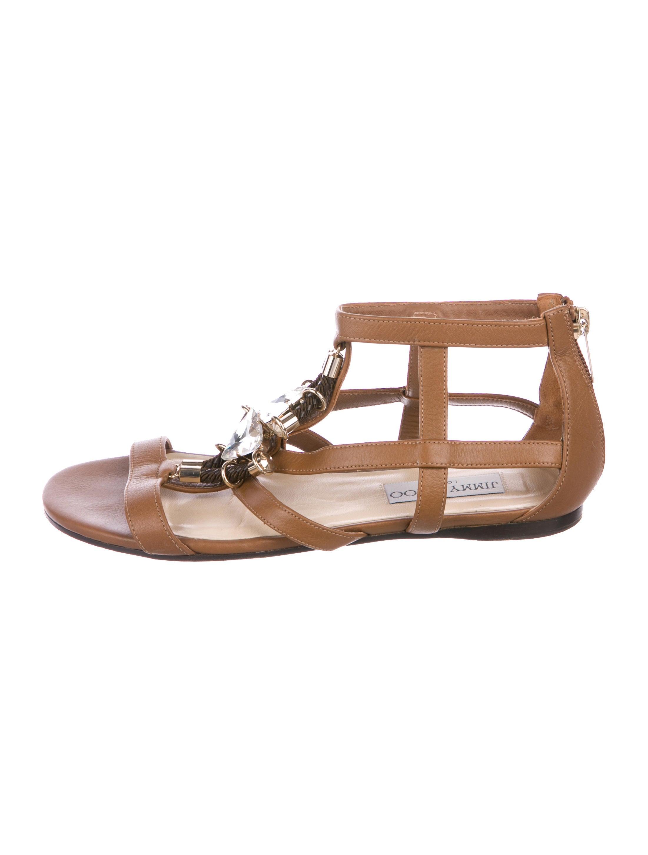 fa5af0eca1ddde Jimmy Choo Embellished Leather Sandals - Shoes - JIM95949