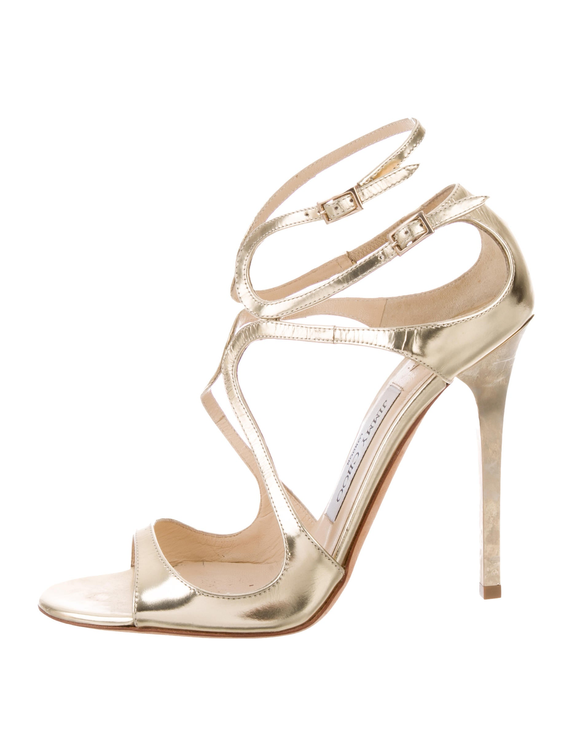 77f24a2ecf531b Jimmy Choo Leather Cage Sandals - Shoes - JIM97325