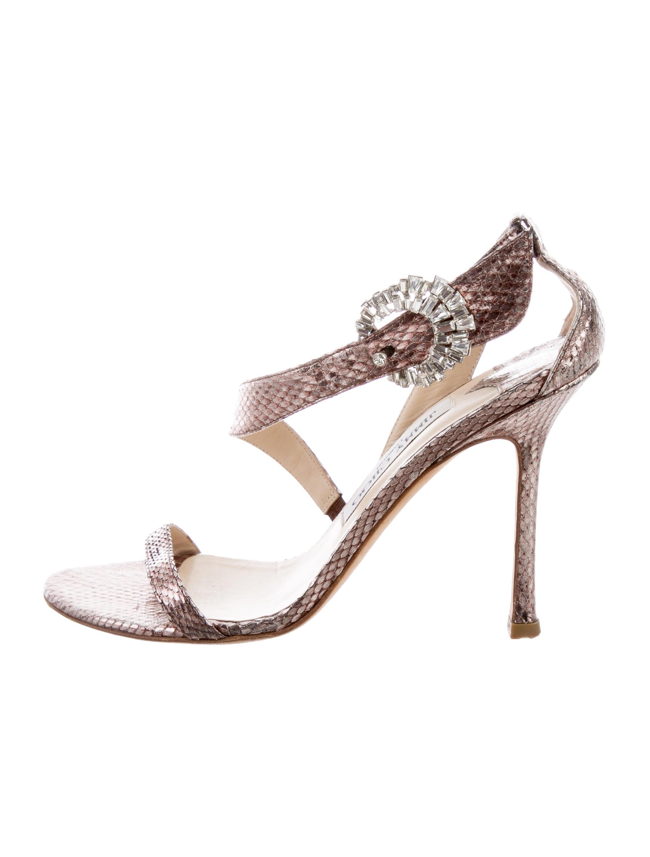 625a39ef20b37a Jimmy Choo Metallic Embossed Sandals - Shoes - JIM98597