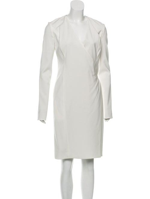 Ji Oh Long Sleeve V-Neck Dress