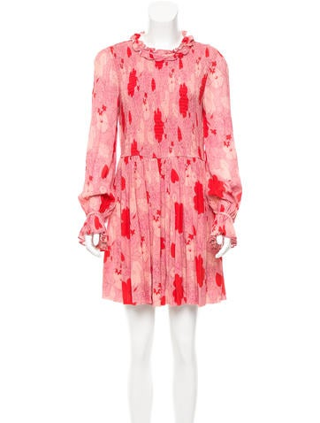 Jill Stuart Scarlet Printed Dress w/ Tags
