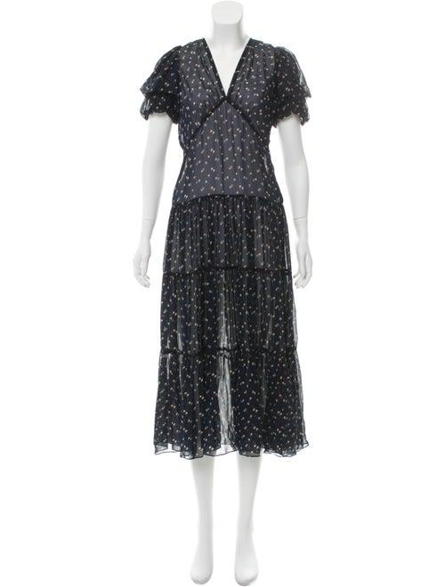 Jill Stuart Printed Maxi Dress Blue