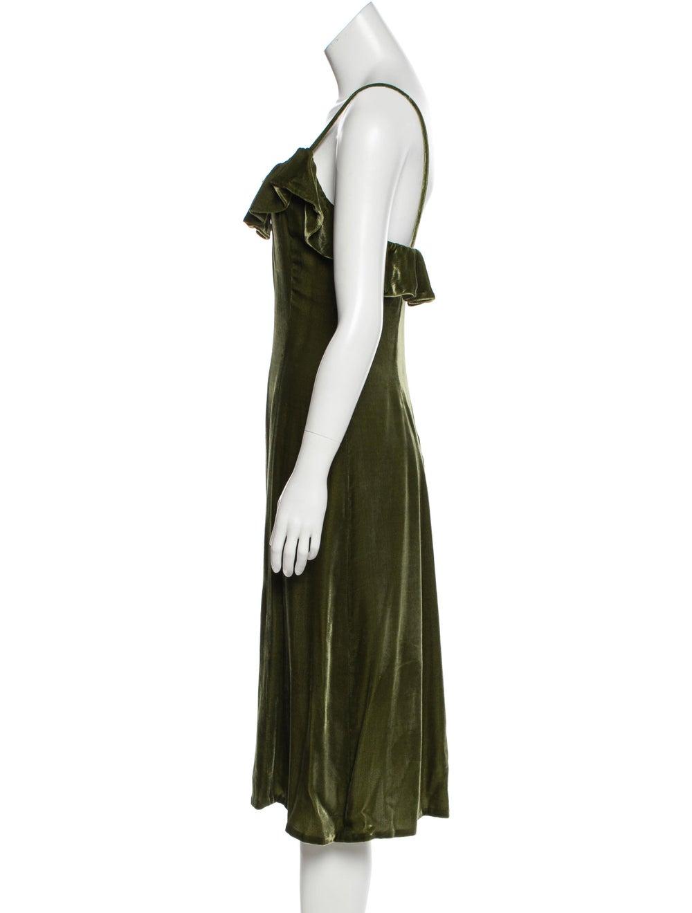 Jill Stuart Velvet Midi Dress green - image 2