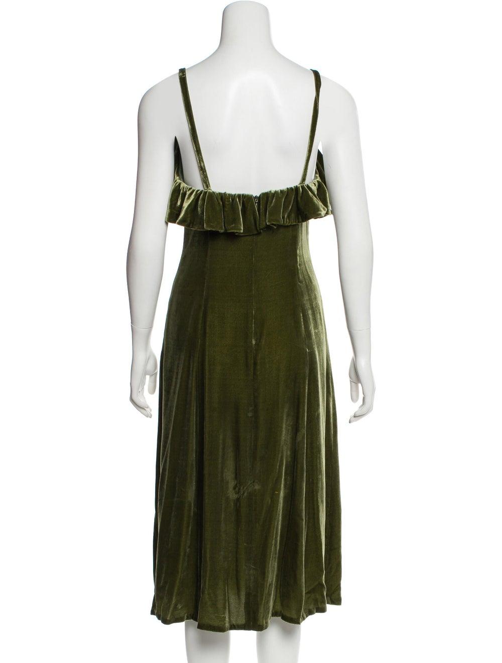 Jill Stuart Velvet Midi Dress green - image 3