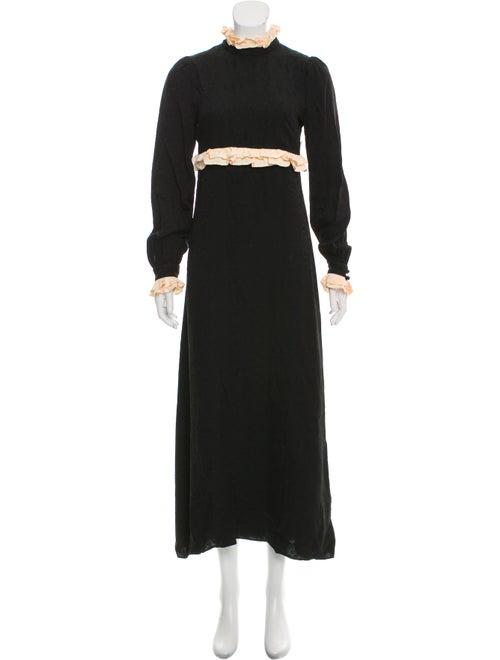 Jill Stuart Printed Maxi Dress Black