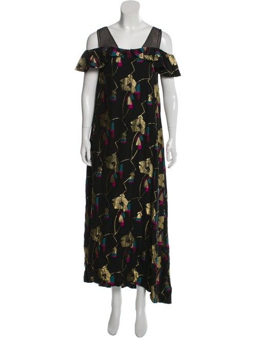 Jill Stuart Sleeveless Printed Maxi Dress Black