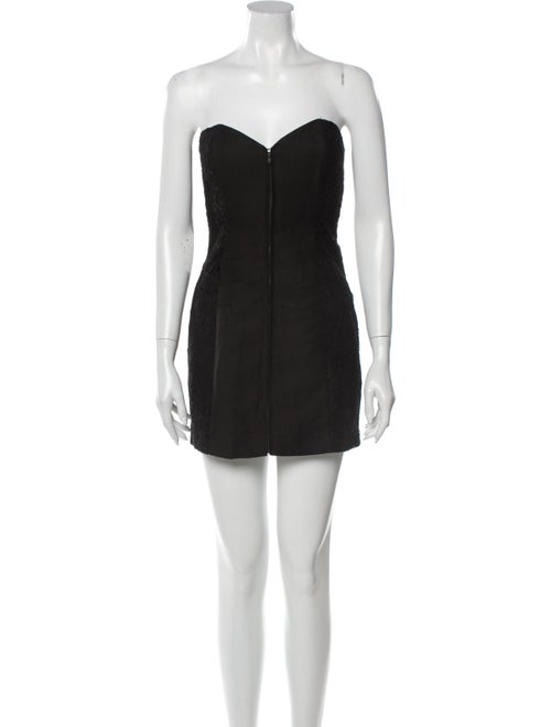 Jill Stuart Strapless Mini Dress Black