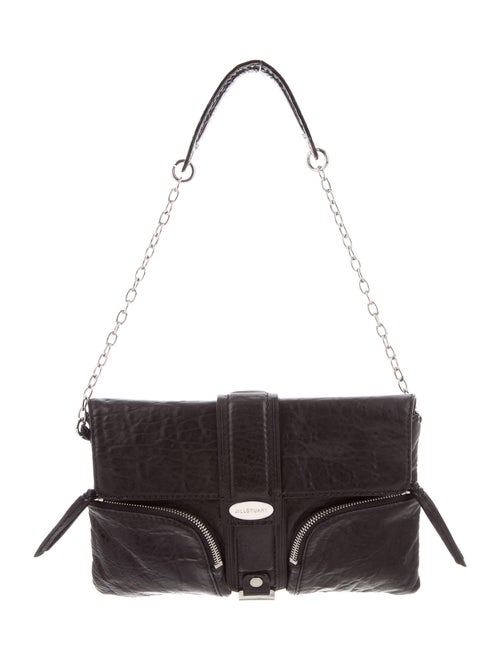 Jill Stuart Leather Shoulder Bag Black