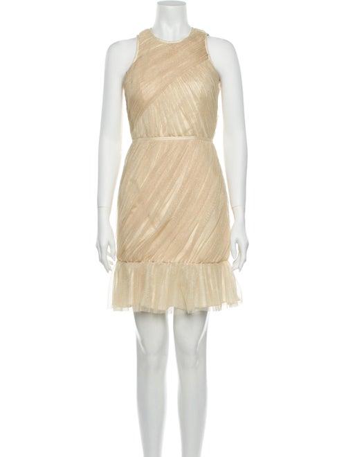 Jill Stuart Crew Neck Mini Dress Gold