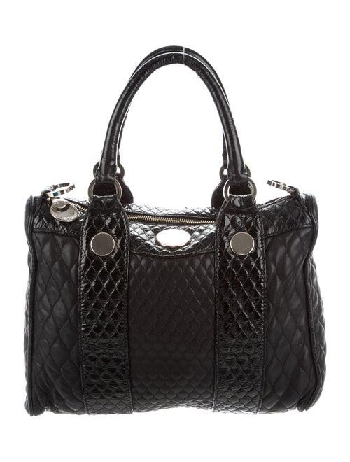 Jill Stuart Patent Leather Trim Shoulder Bag Black
